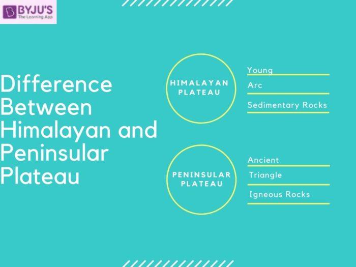 Difference between Himalayan and Peninsular Plateau