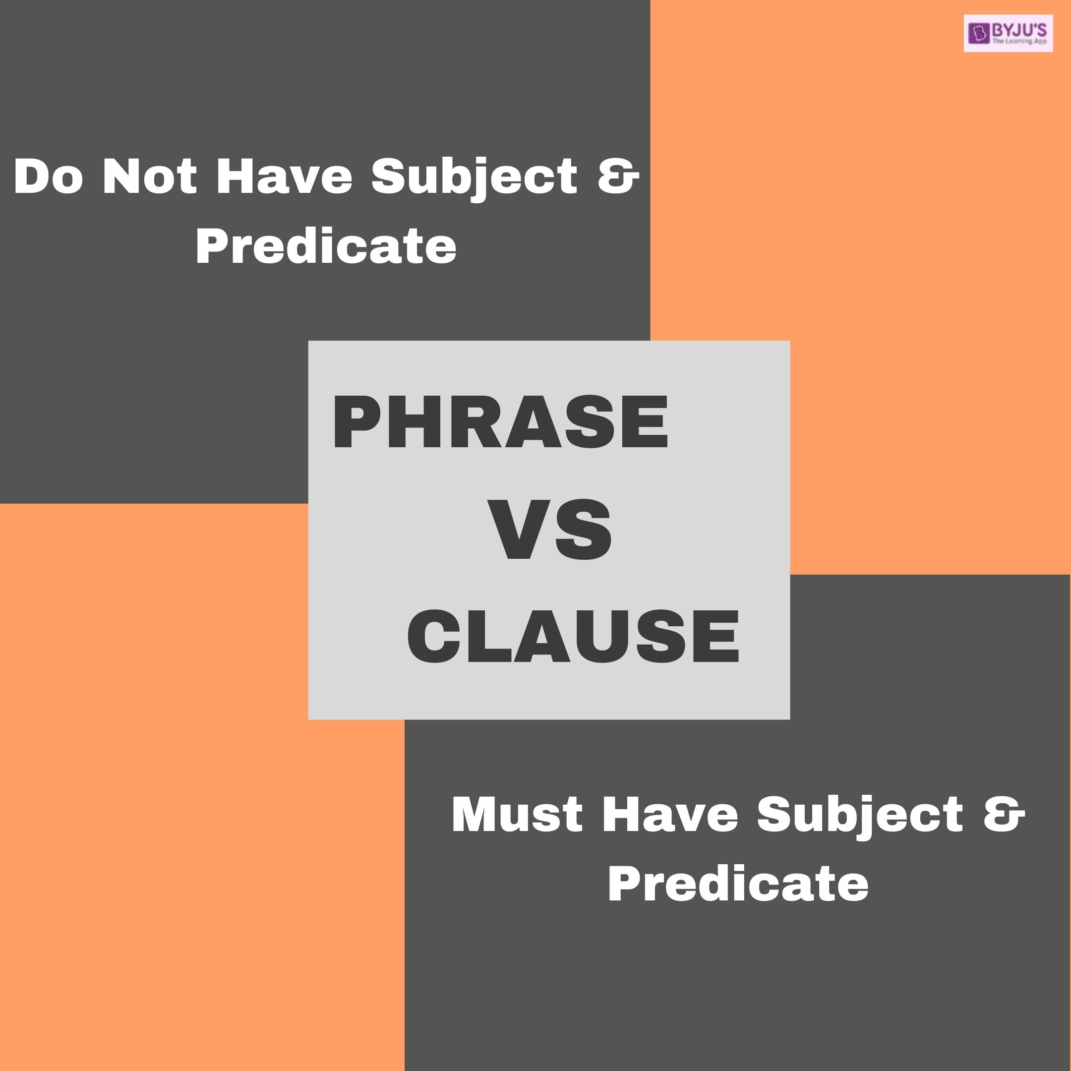 Phrase VS Clause