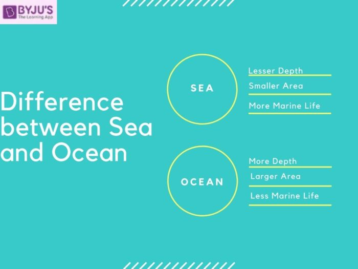 Difference between Sea and Ocean