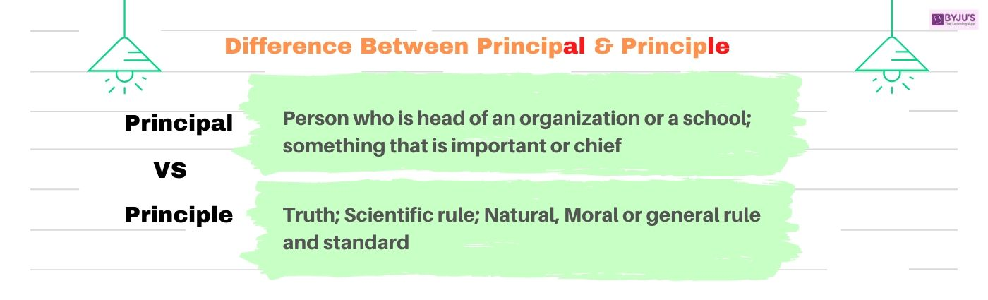 Principal Vs Principle - Difference