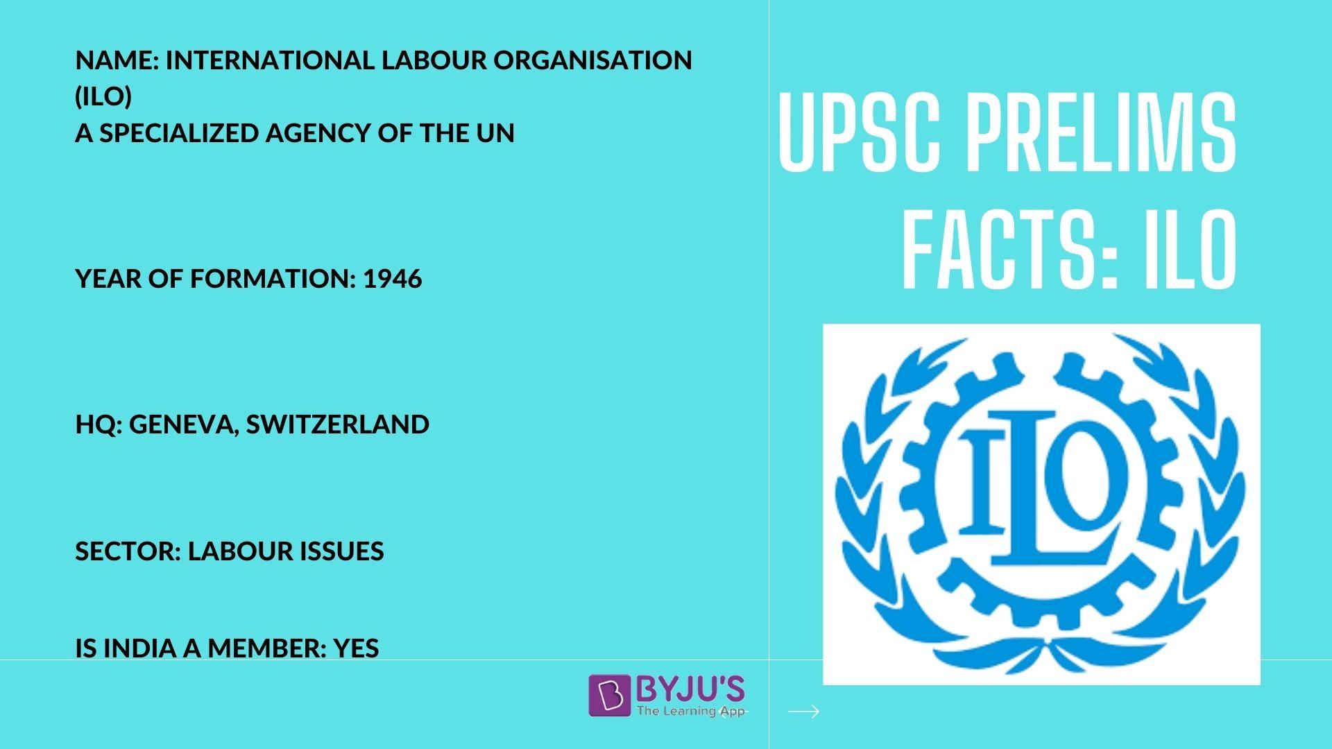 UPSC Prelims Facts - ILO