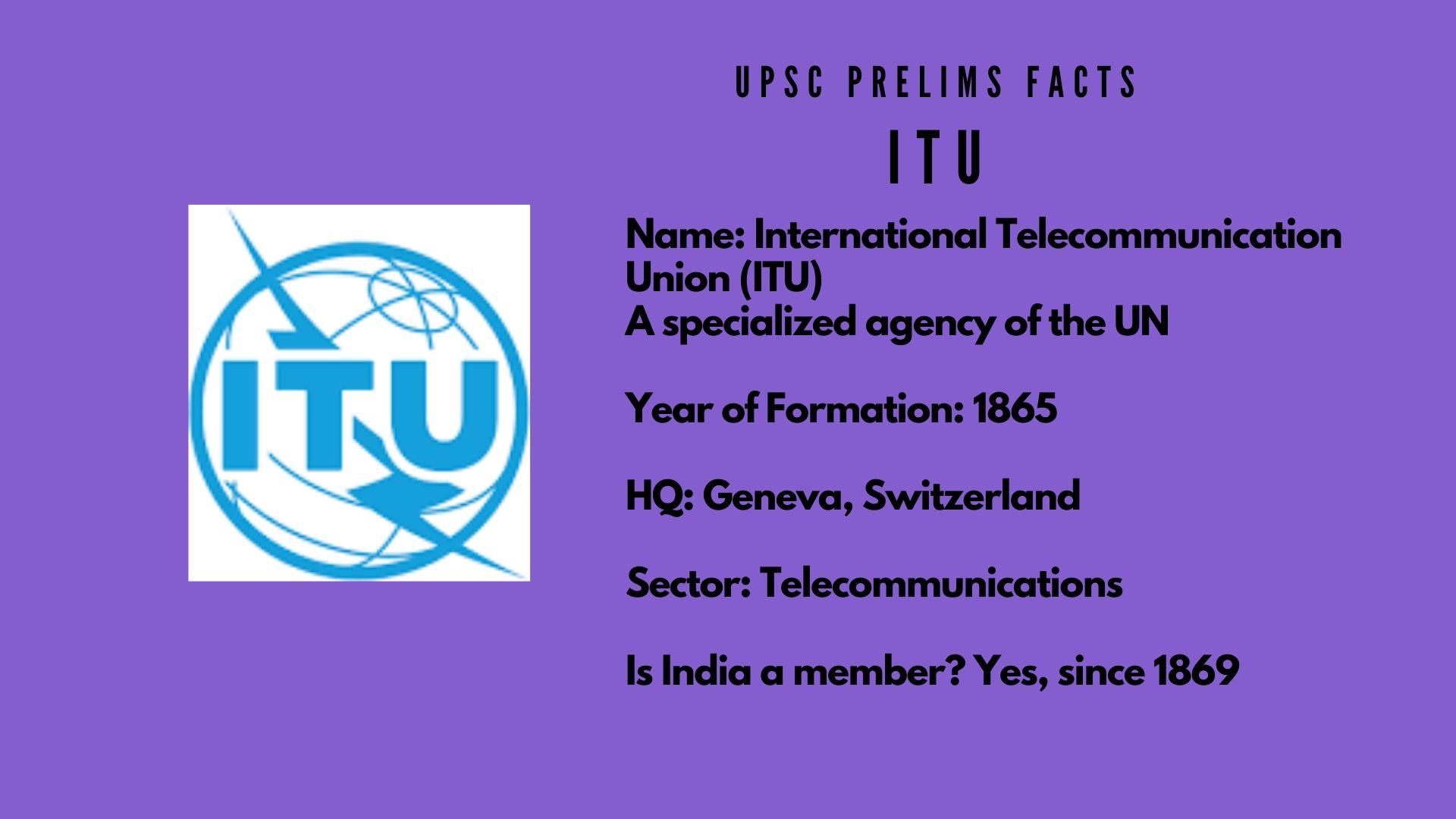 ITU - UPSC Prelims Facts