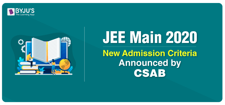JEE Main 2020 Admission Criteria