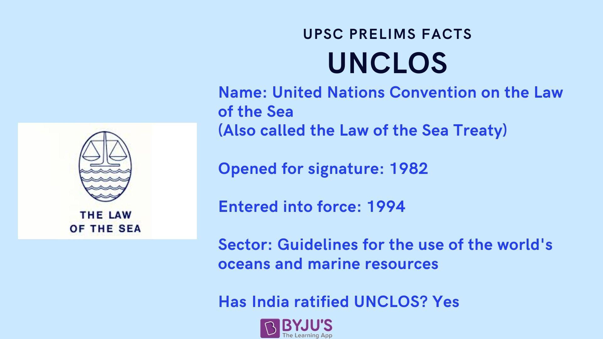 UPSC Prelims Facts - UNCLOS