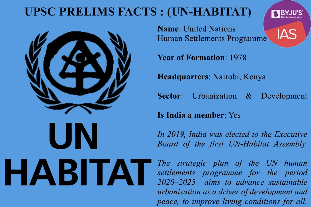 UPSC Prelims Facts - UN Habitat