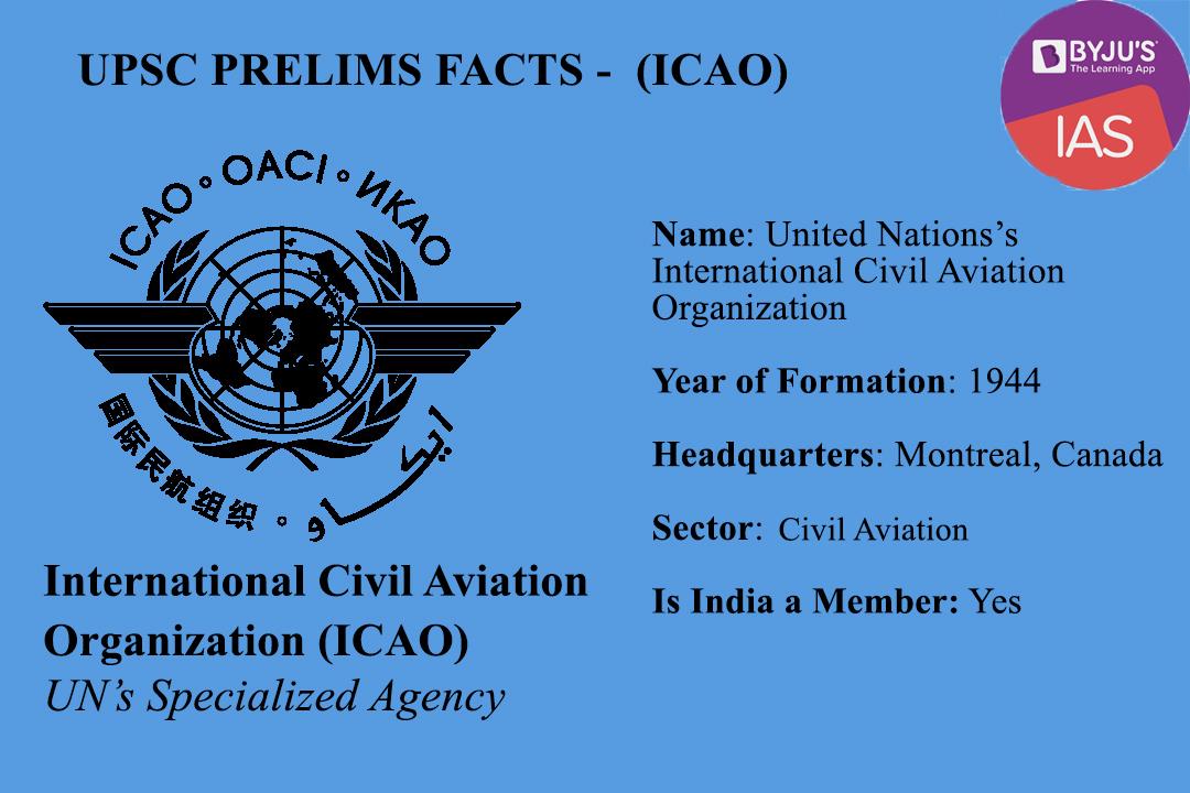 ICAO - UPSC Prelims Facts