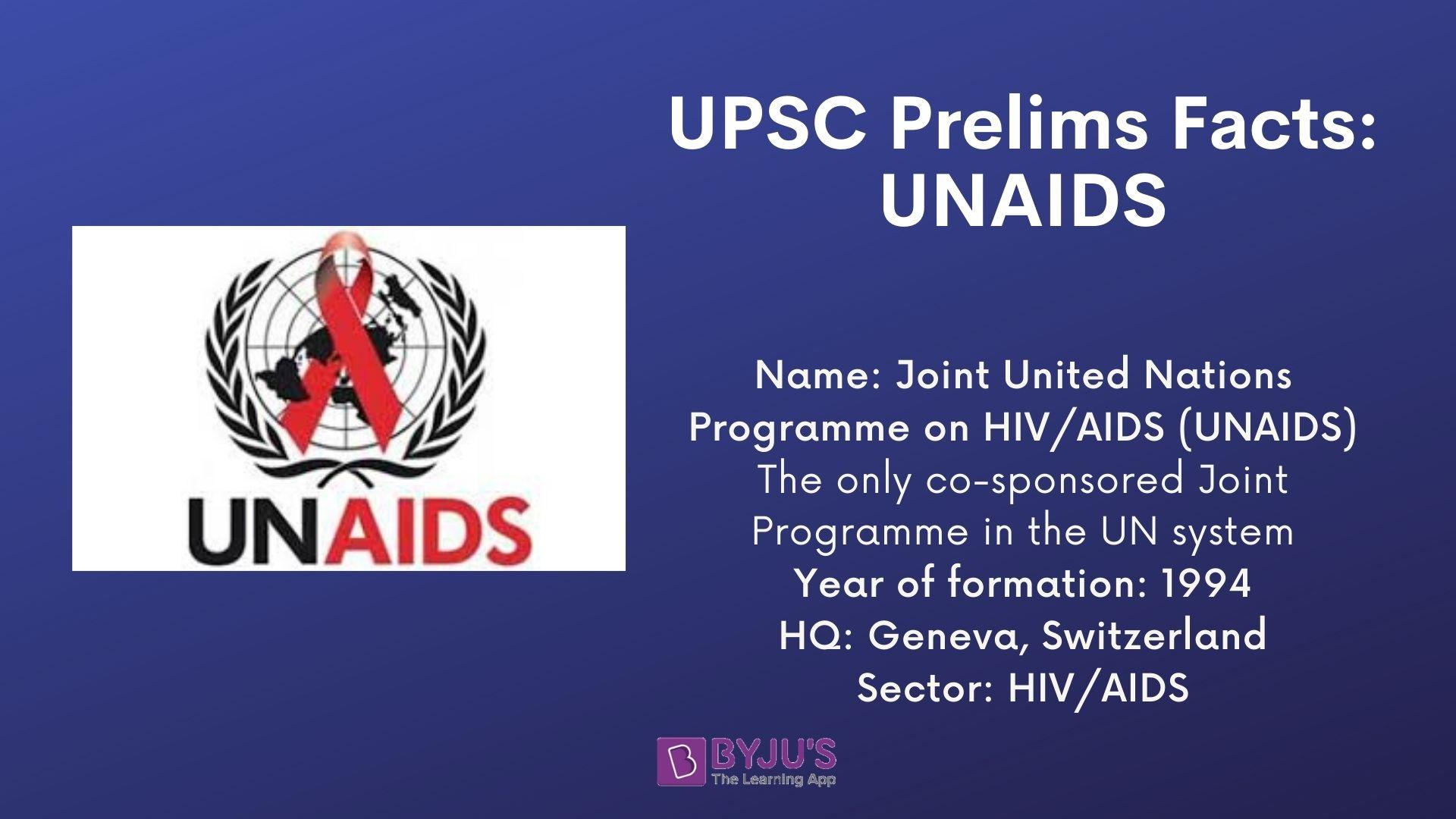 UPSC Prelims Facts - UNAIDS