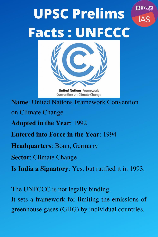 UPSC Prelims Facts - UNFCCC