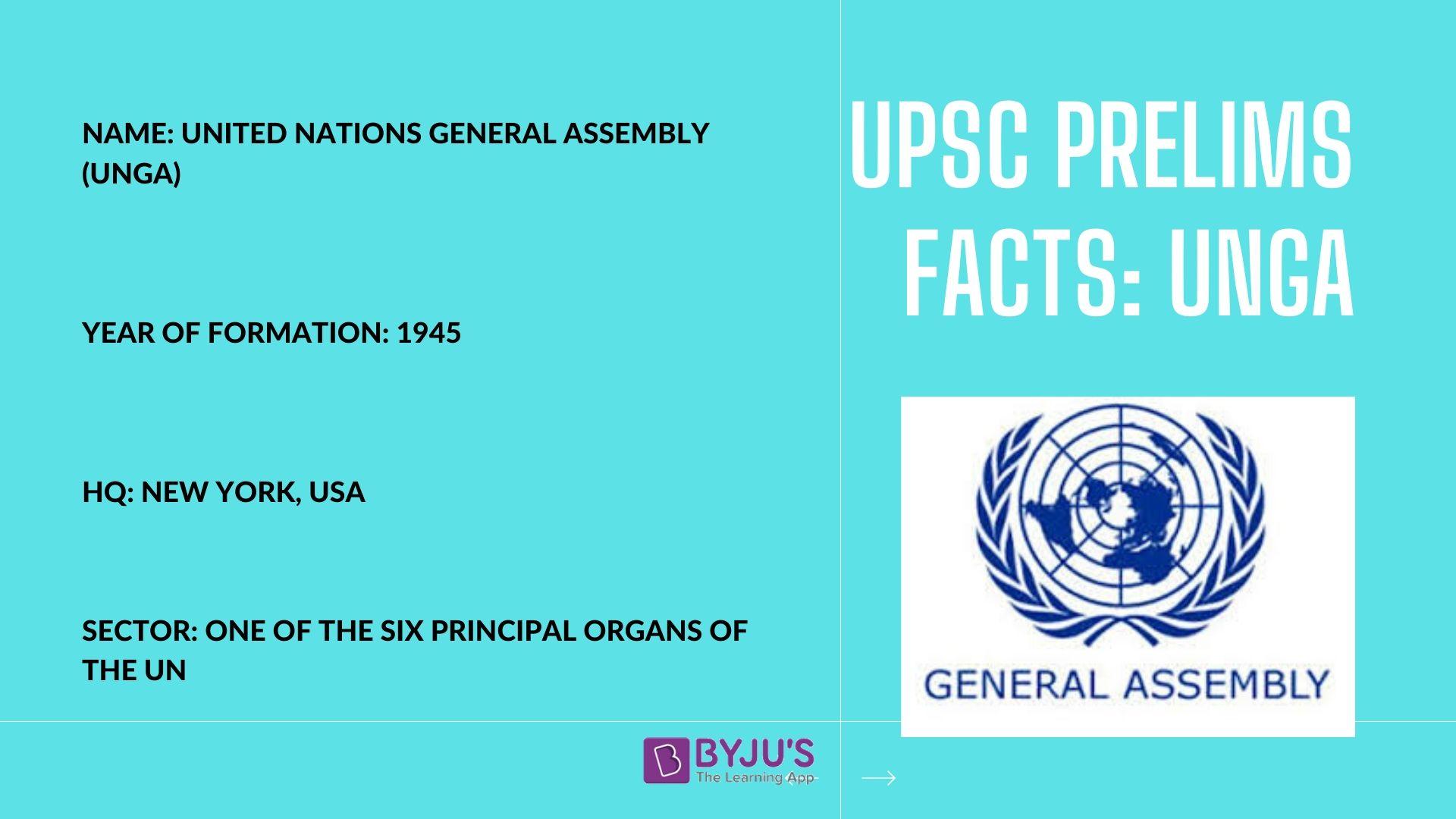 UNGA - UPSC Prelims Facts