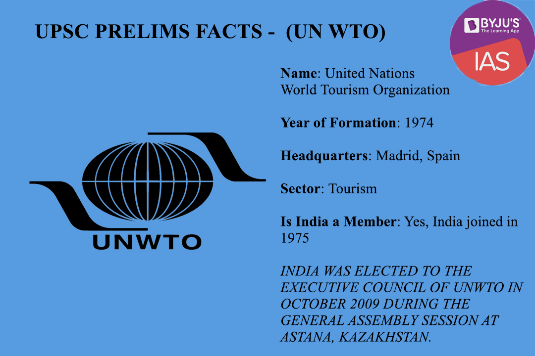 UPSC Prelims Facts - UNWTO