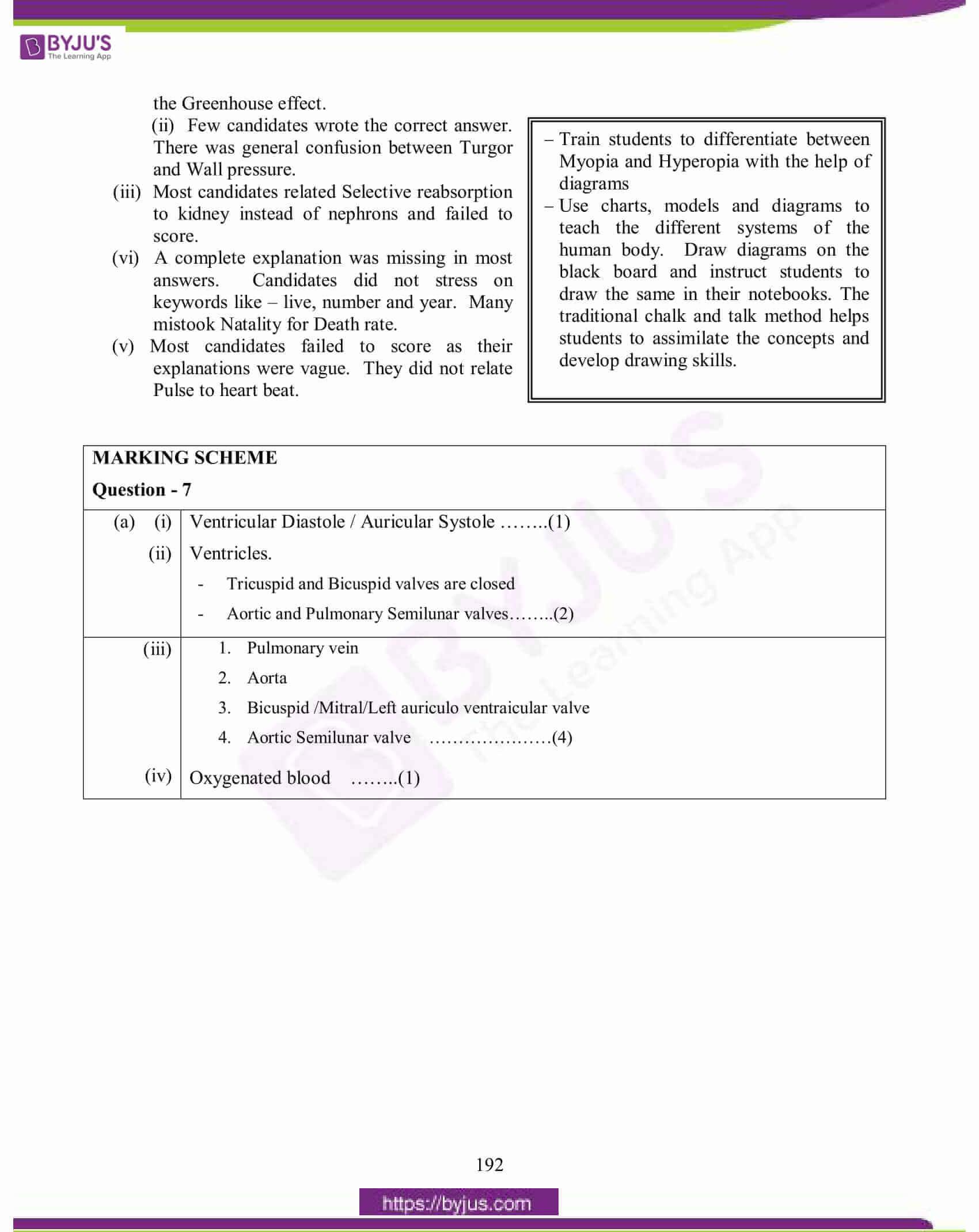 icse class 10 biology question paper solution 2015 19