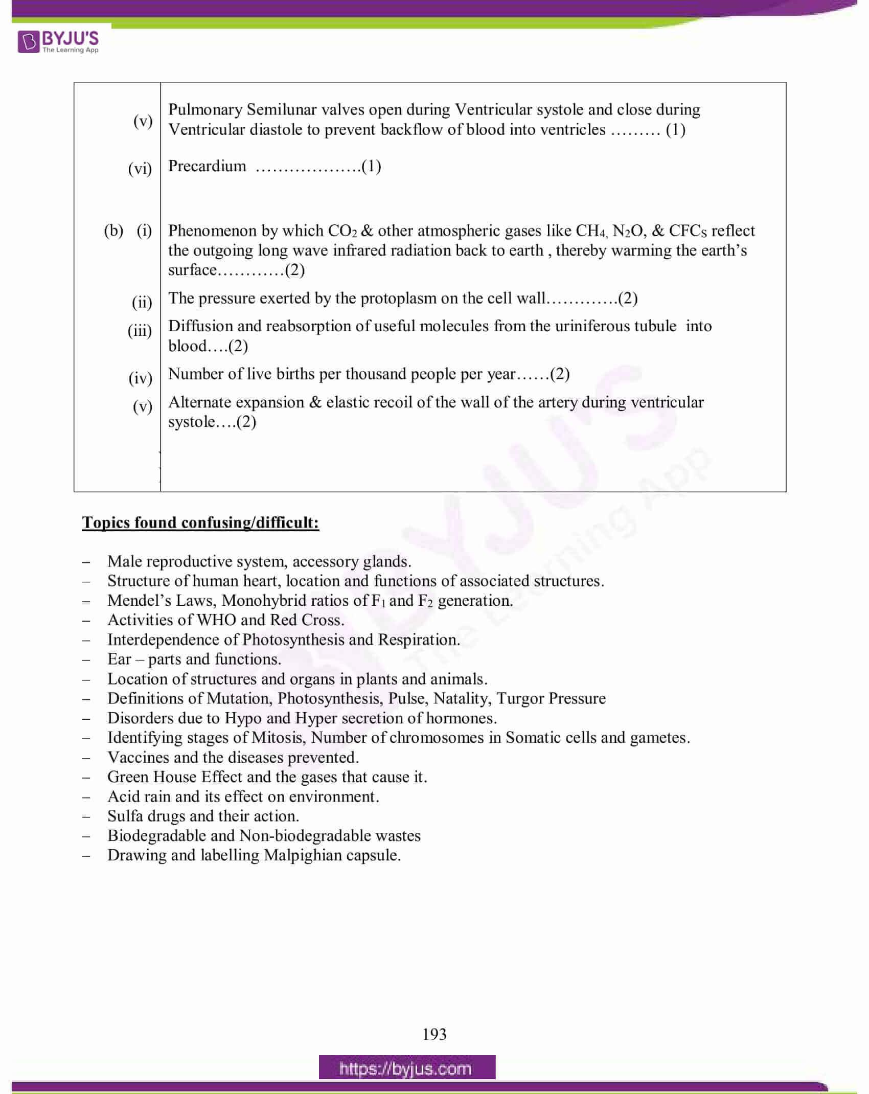 icse class 10 biology question paper solution 2015 20
