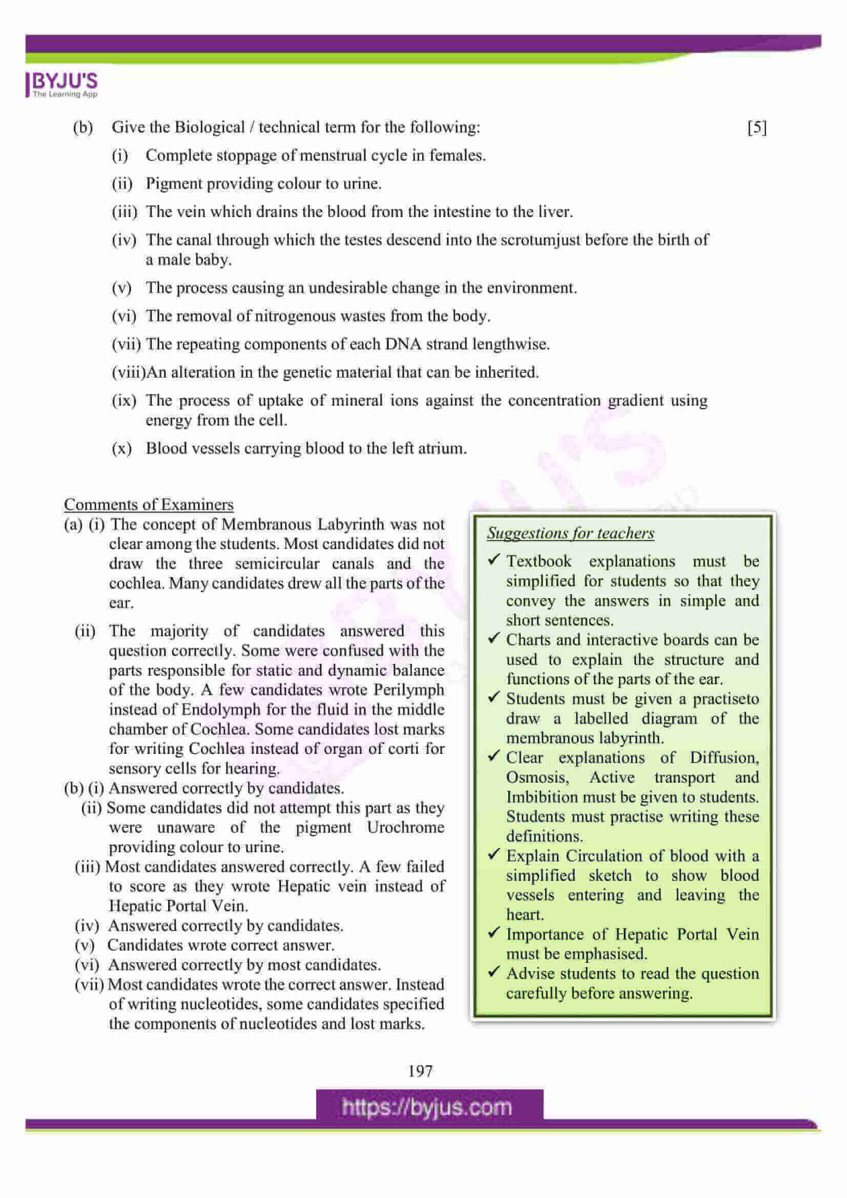 icse class 10 biology question paper solution 2016 15