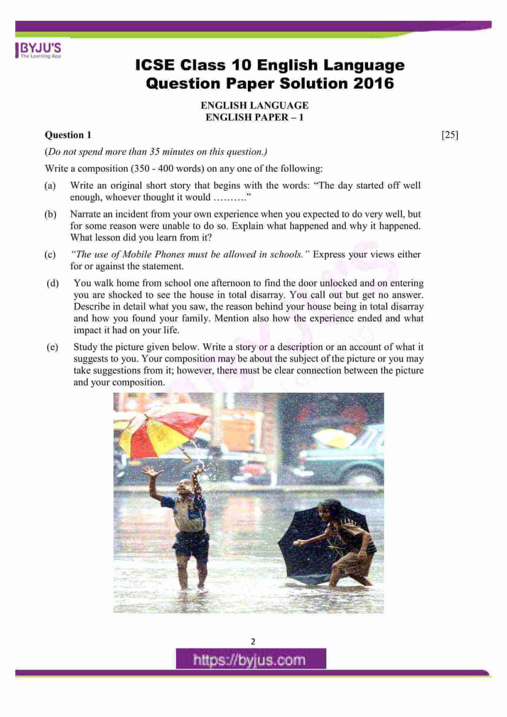 icse class 10 eng lan question paper solution 2016 01