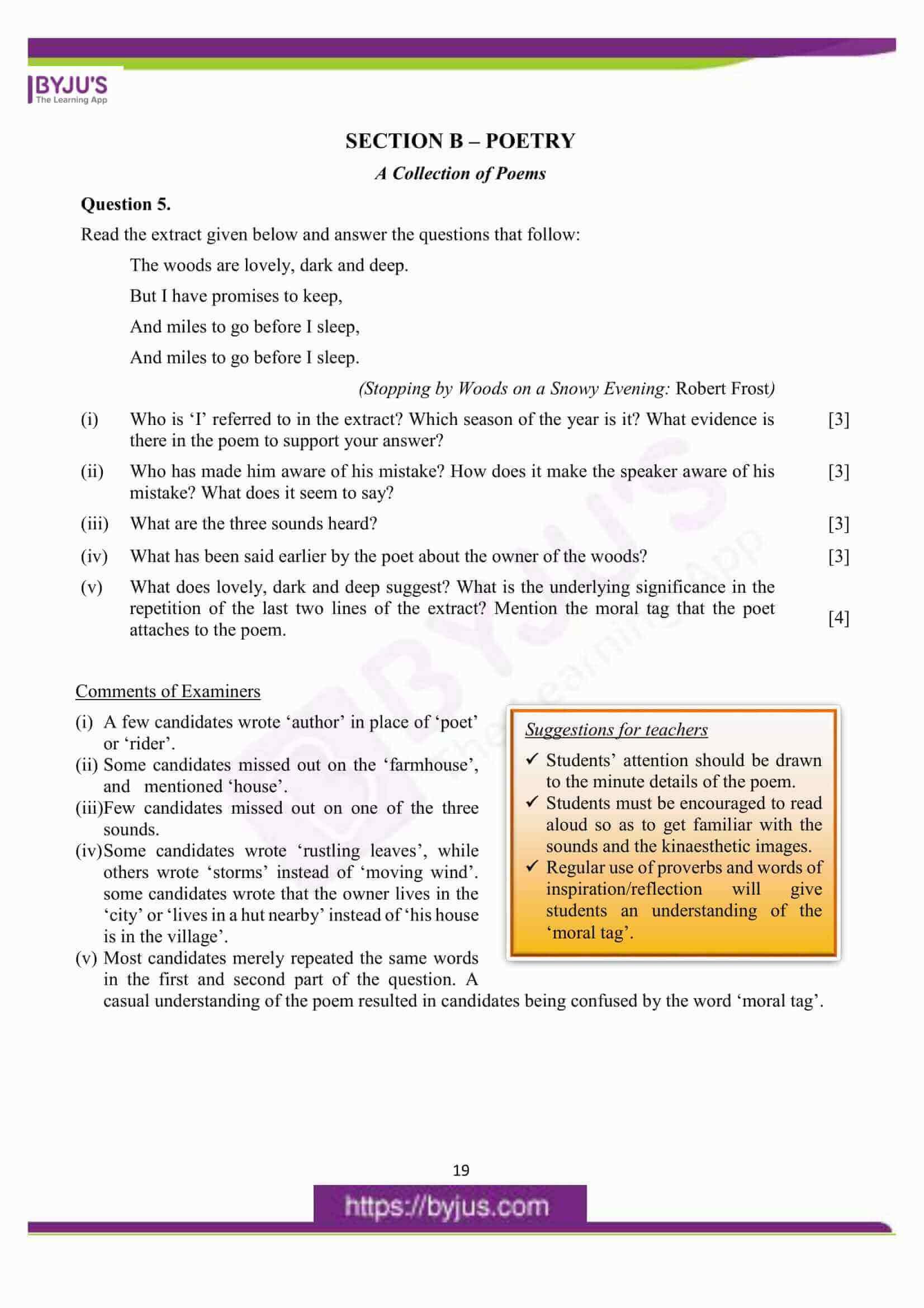 icse class 10 eng lit question paper solution 2016 07