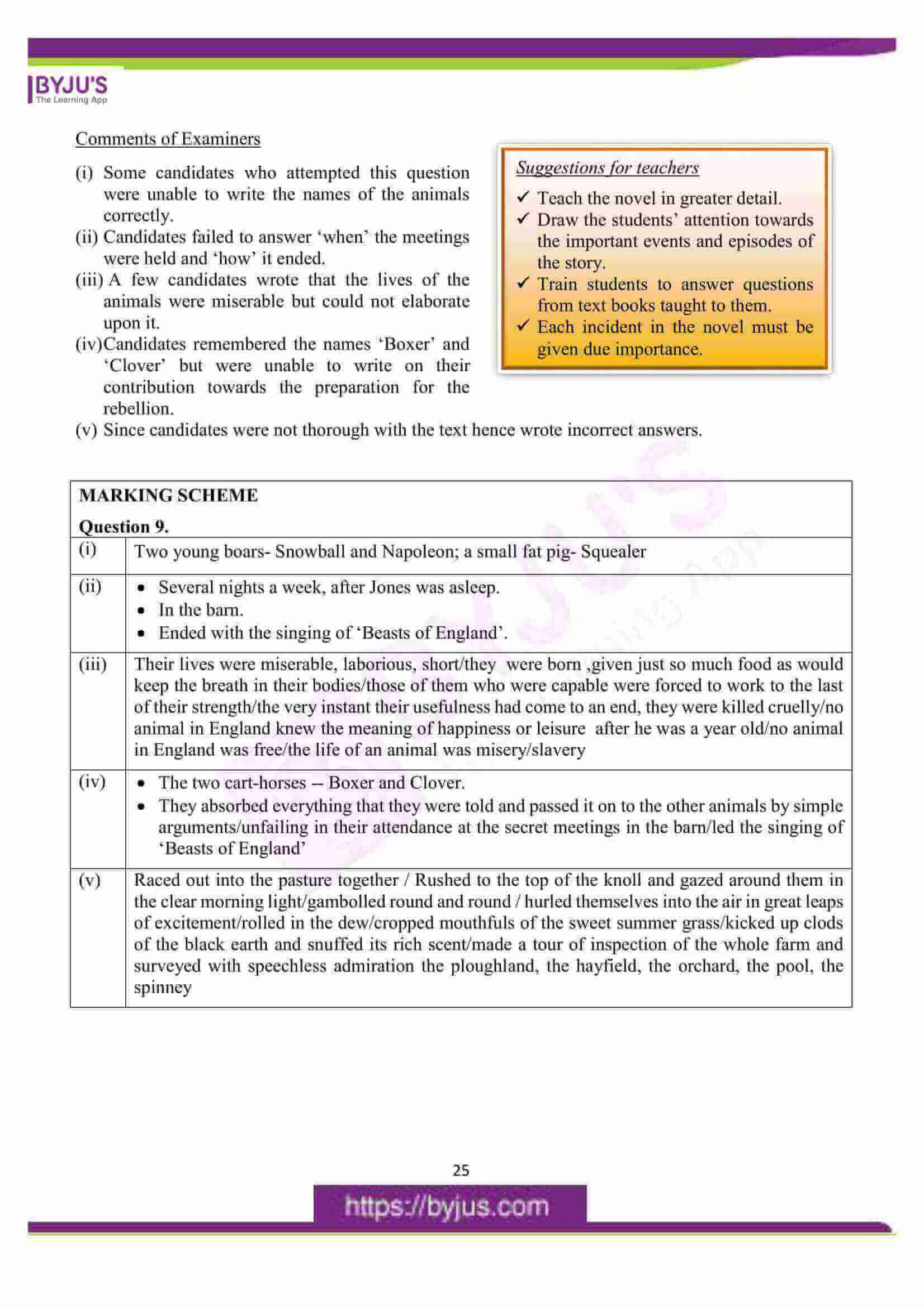 icse class 10 eng lit question paper solution 2016 13
