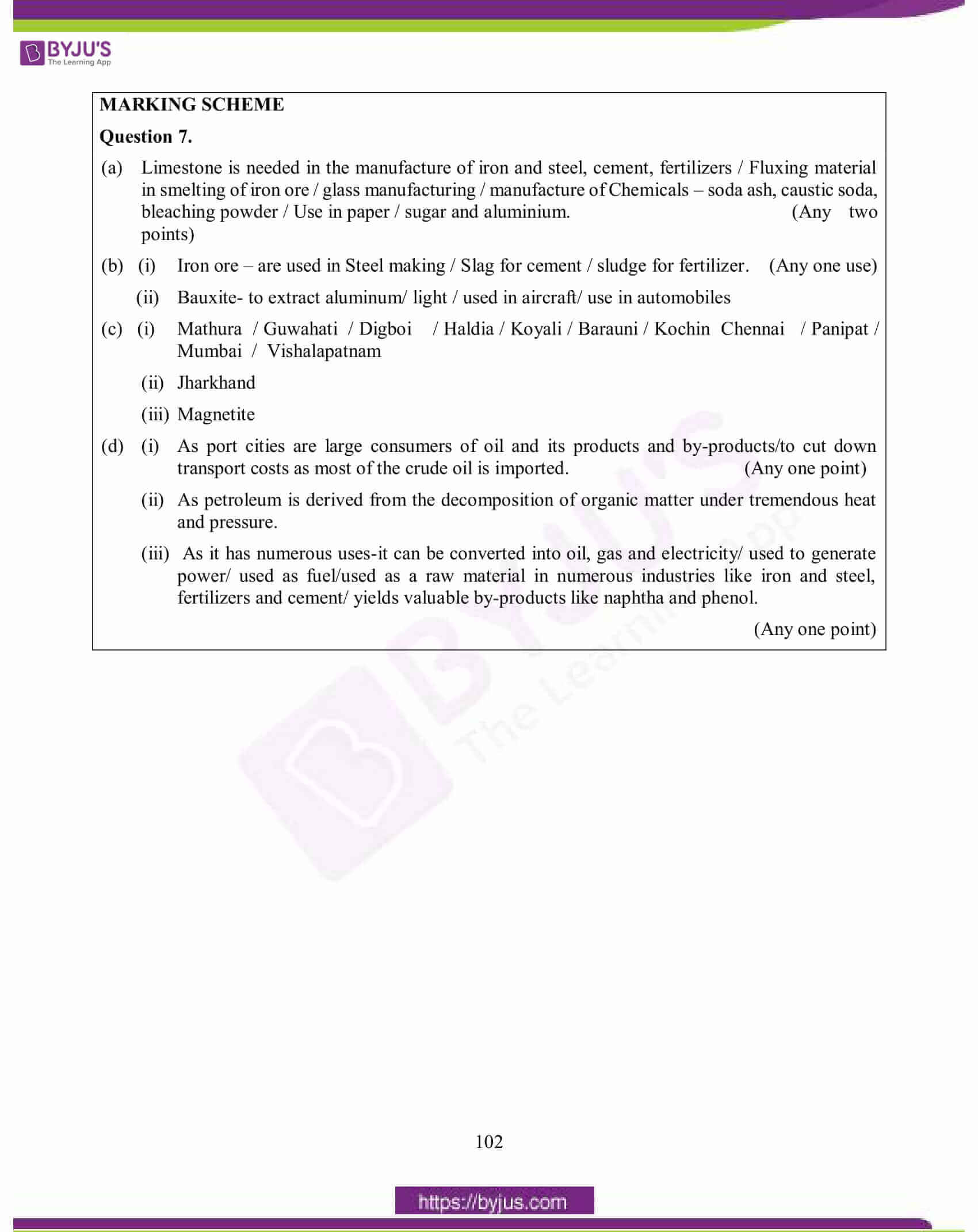 icse class 10 geography question paper solution 2015 16
