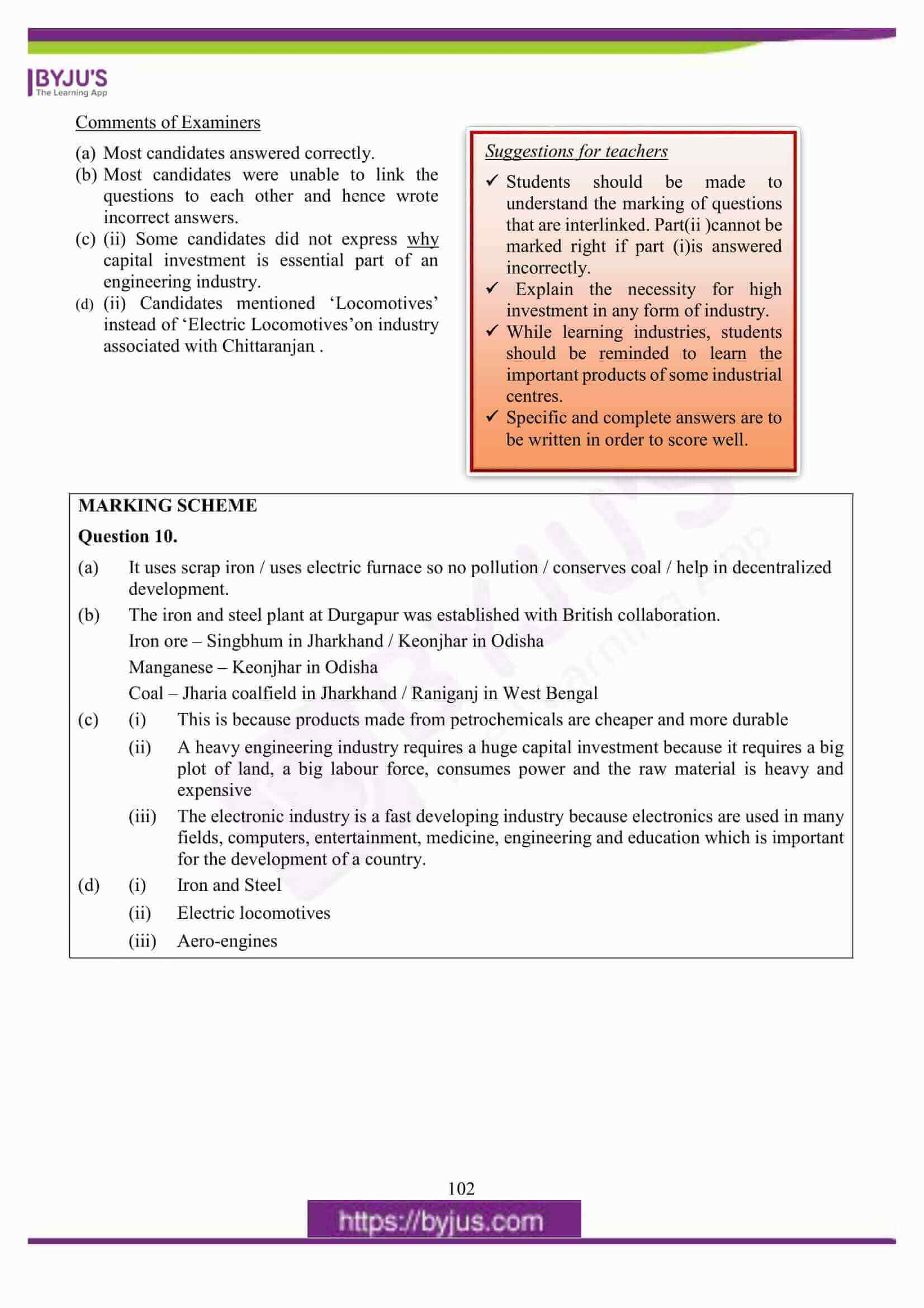 icse class 10 geography question paper solution 2016 16