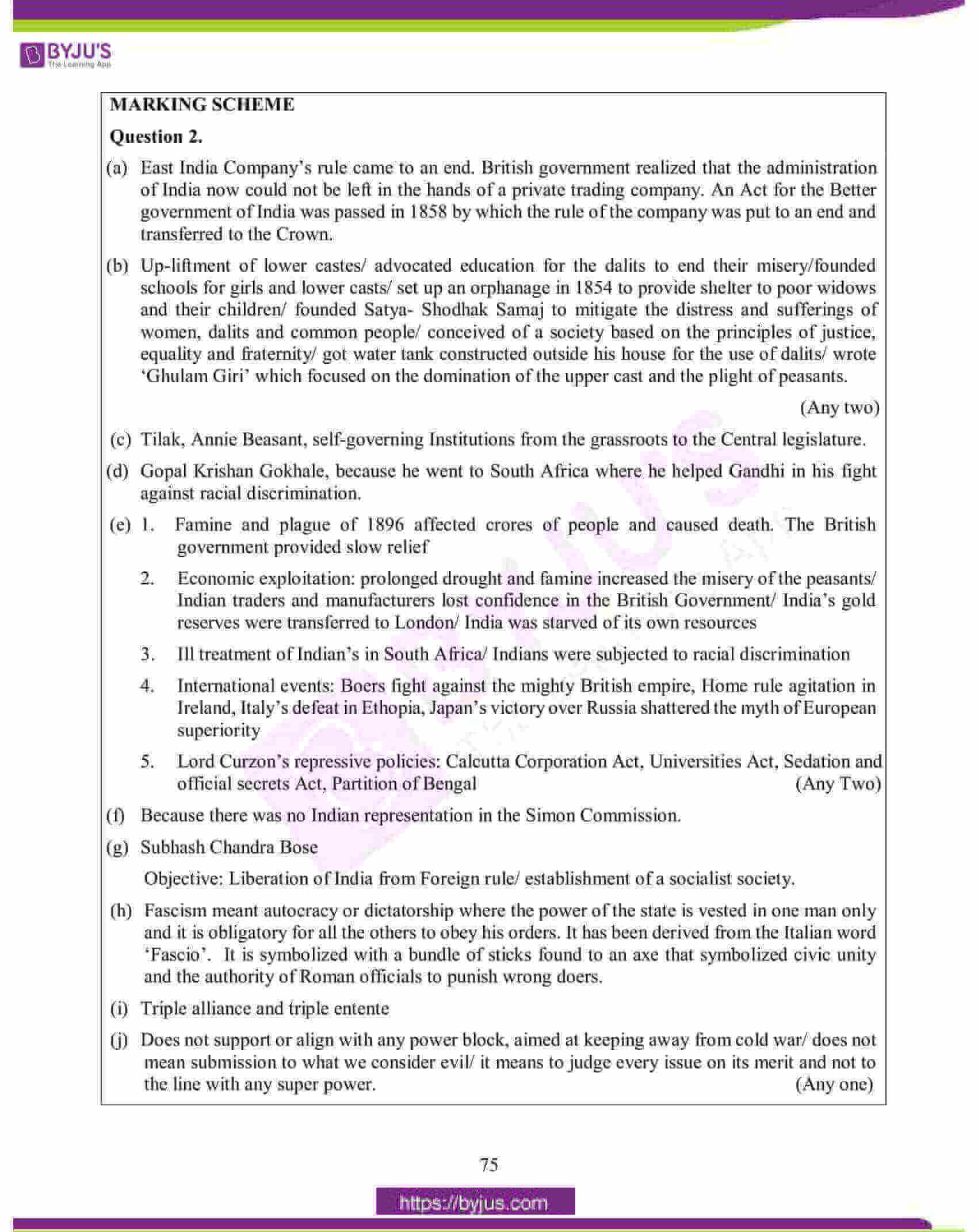 icse class 10 his and civics question paper solution 2015 05