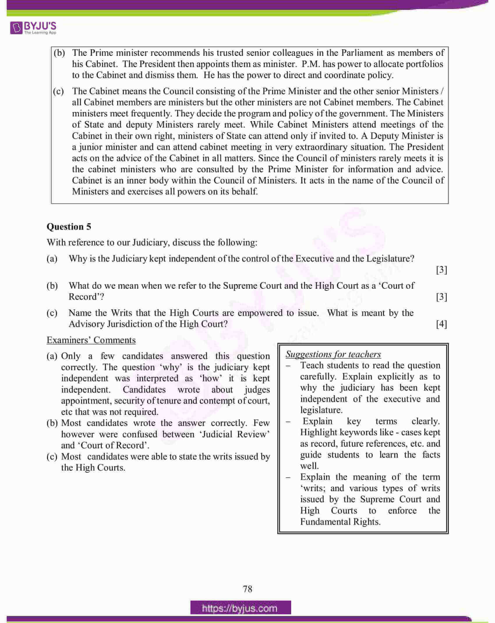 icse class 10 his and civics question paper solution 2015 08