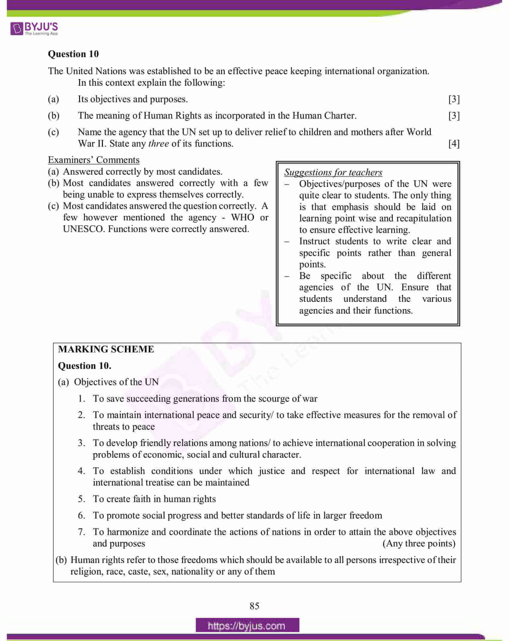 icse class 10 his and civics question paper solution 2015 15