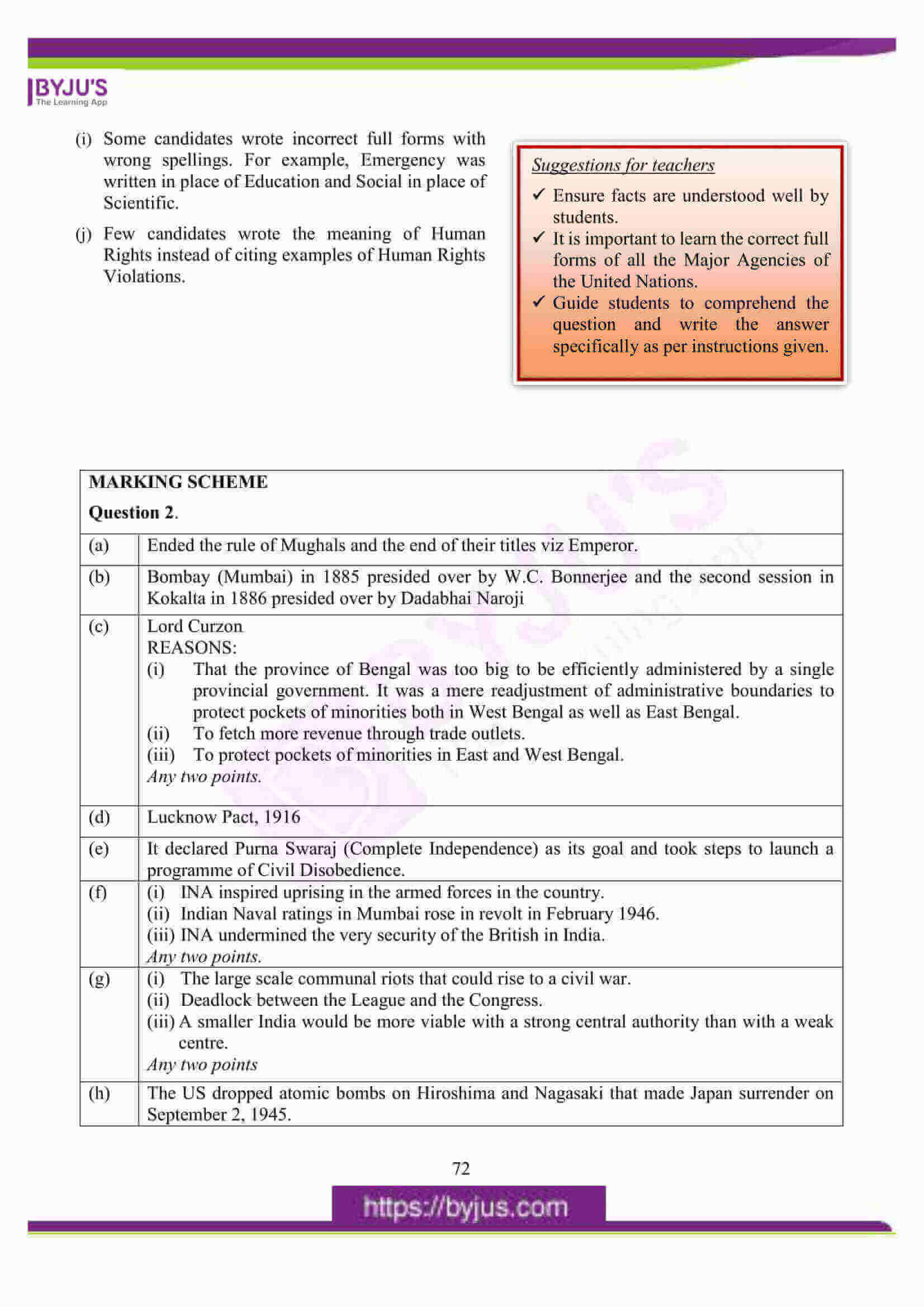 icse class 10 his and civics question paper solution 2016 05
