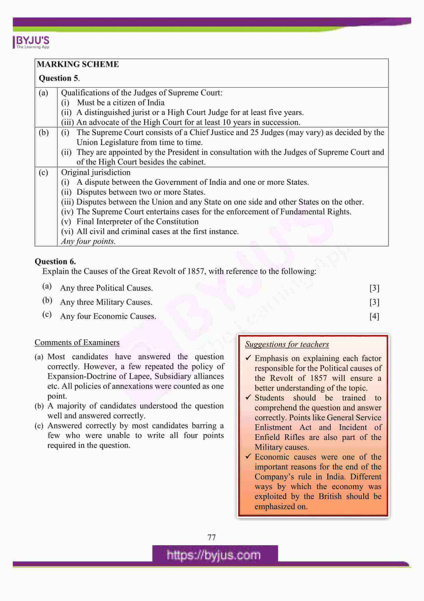 icse class 10 his and civics question paper solution 2016 10