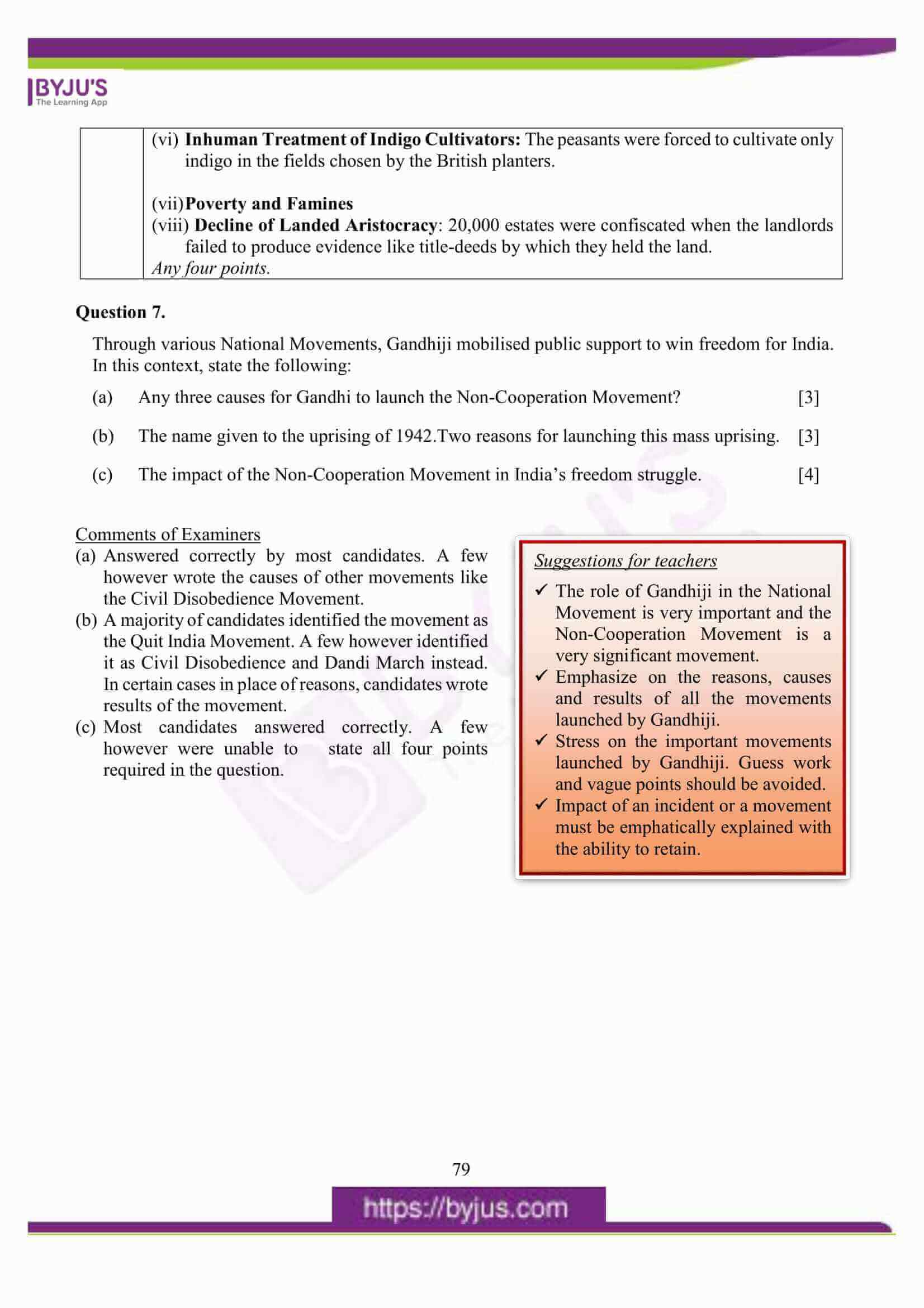 icse class 10 his and civics question paper solution 2016 12