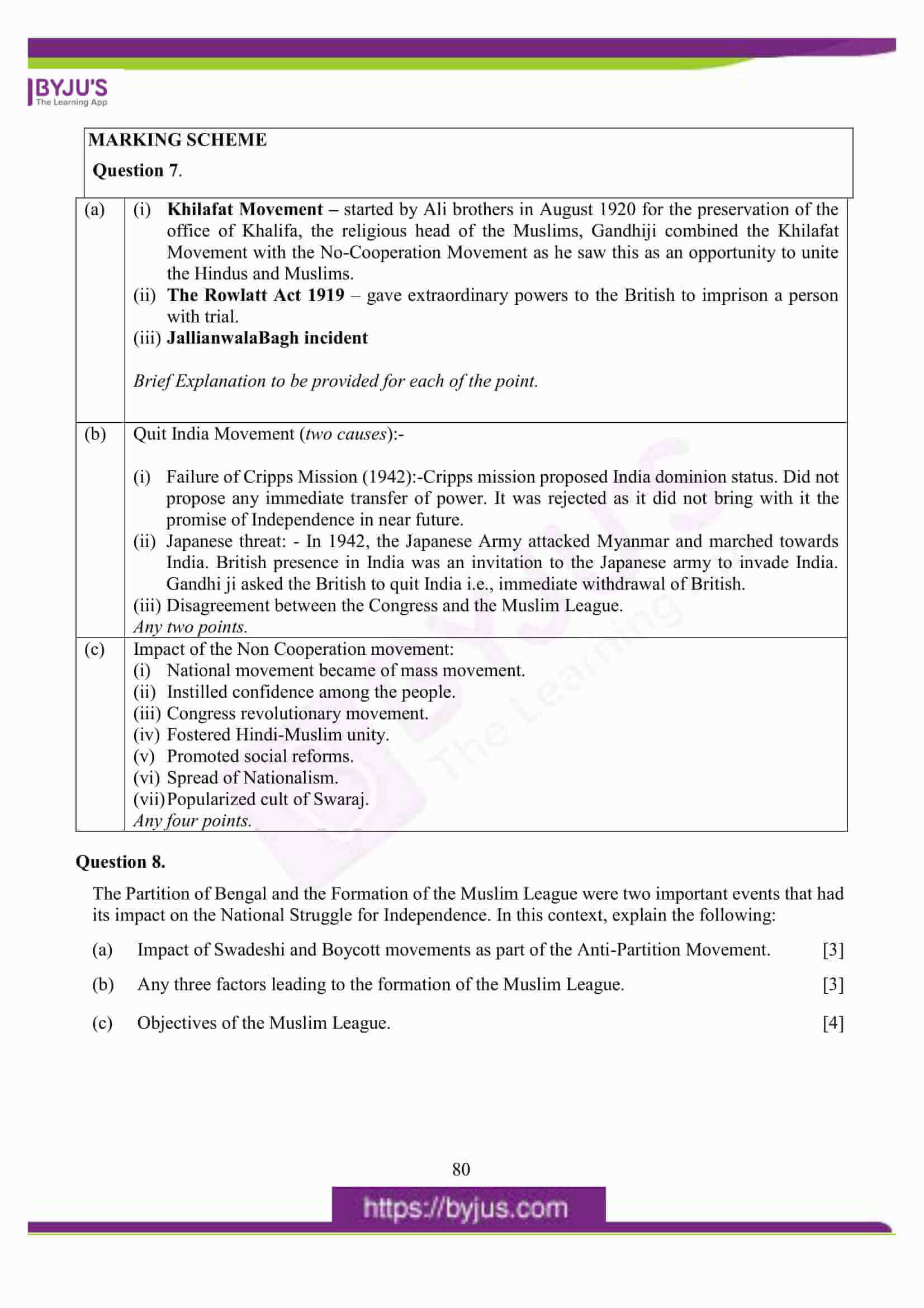 icse class 10 his and civics question paper solution 2016 13