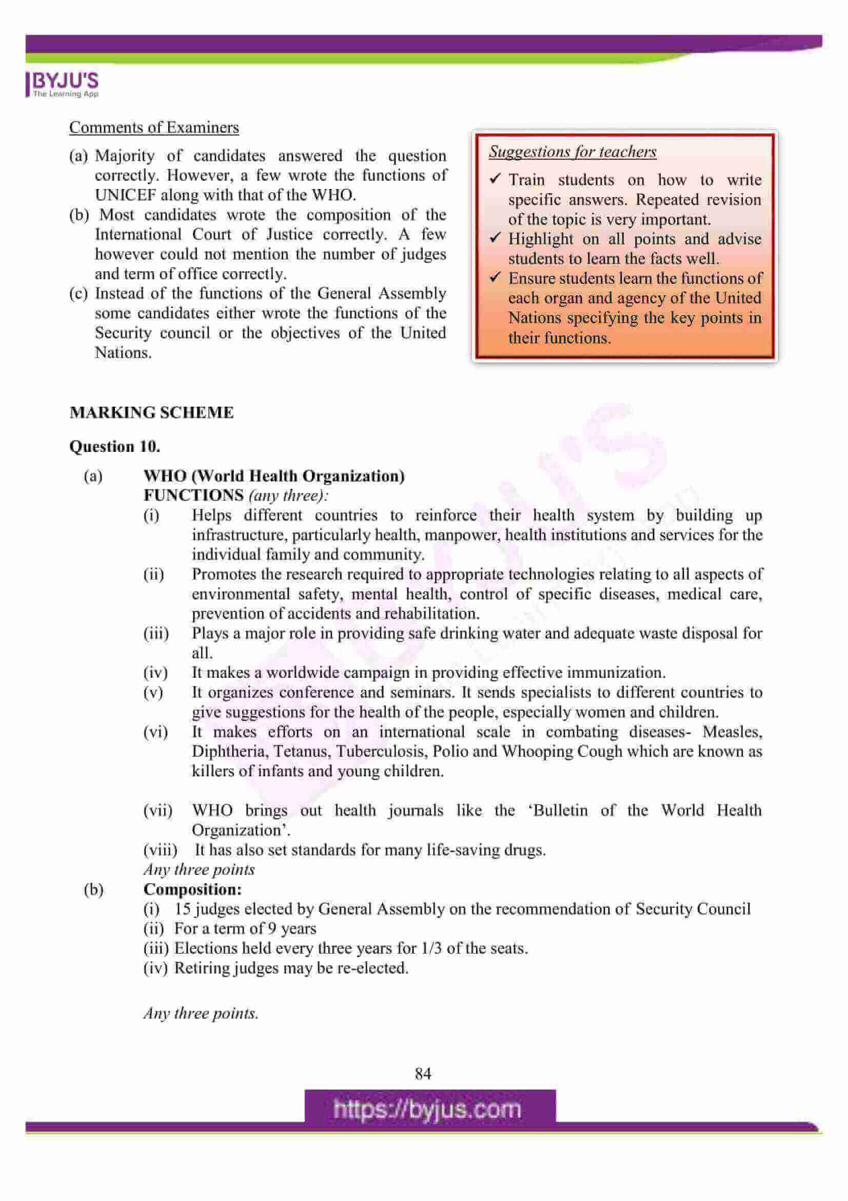 icse class 10 his and civics question paper solution 2016 17