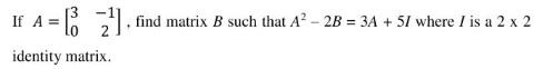 ICSE class 10 maths 2020 SP question 5(b)