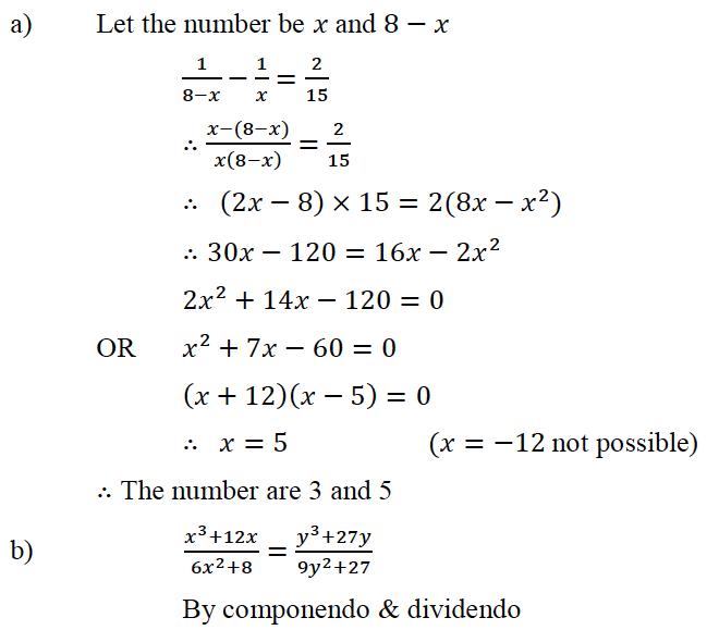 ICSE Class 10 Maths QS Paper 2015 Solution-26