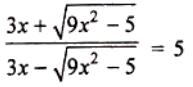 ICSE class 10 maths SP 5 question 5(b)