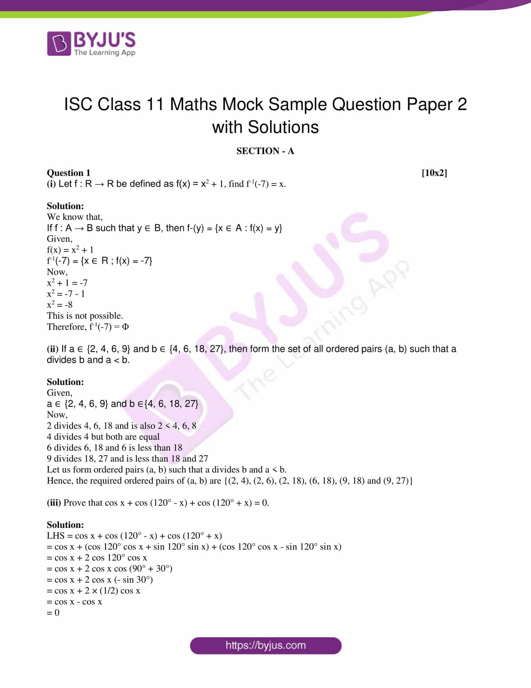 isc class 11 maths mock question paper with solution 2 01