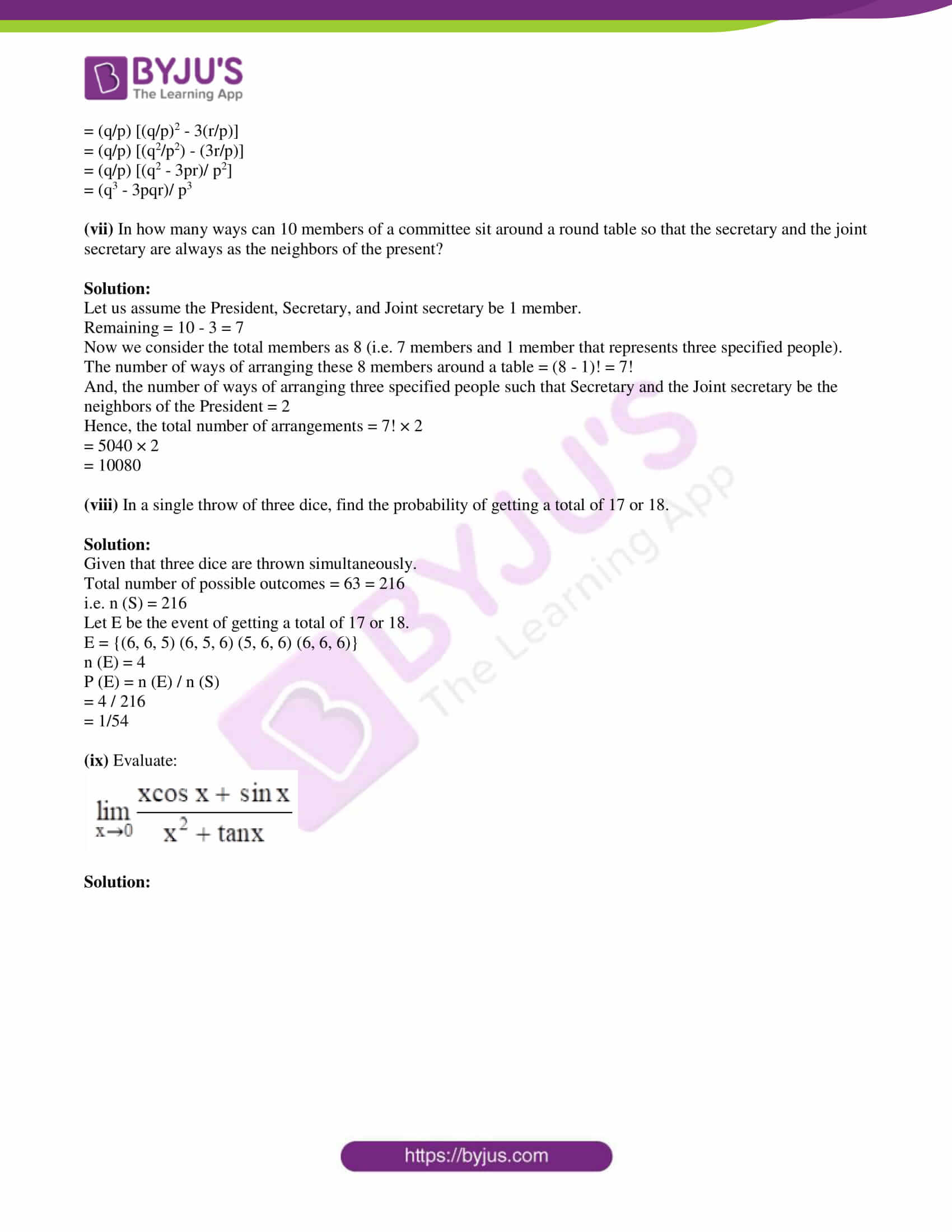 isc class 11 maths mock question paper with solution 2 03