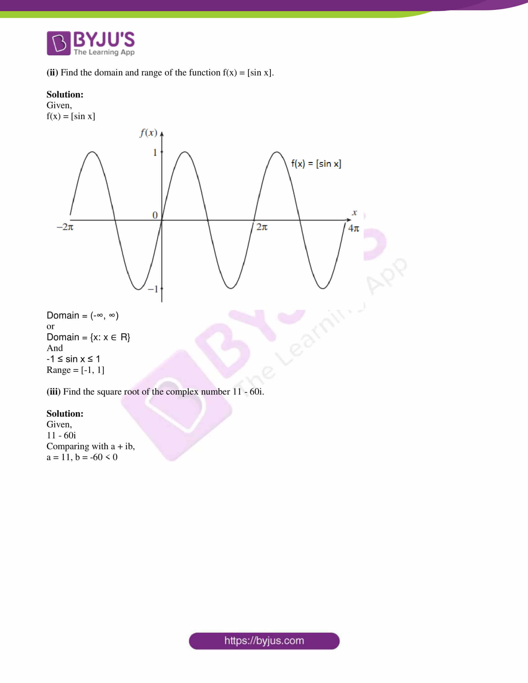 isc class 11 maths specimen question paper with solutions 2018 02