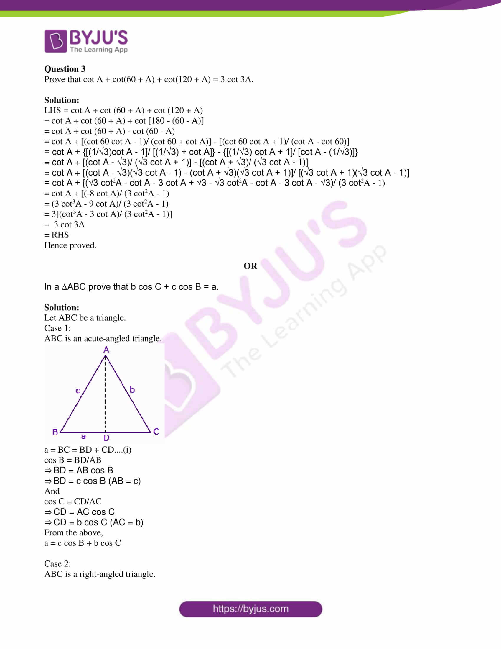 isc class 11 maths specimen question paper with solutions 2018 07