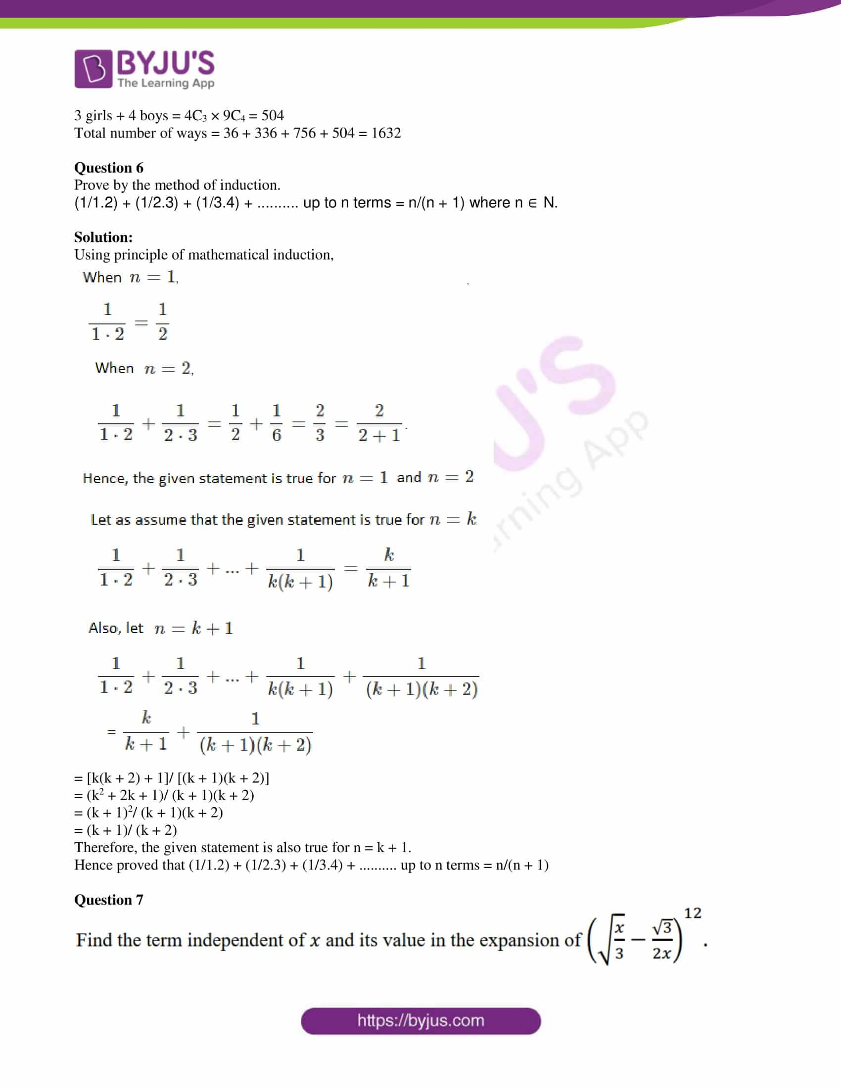 isc class 11 maths specimen question paper with solutions 2018 11