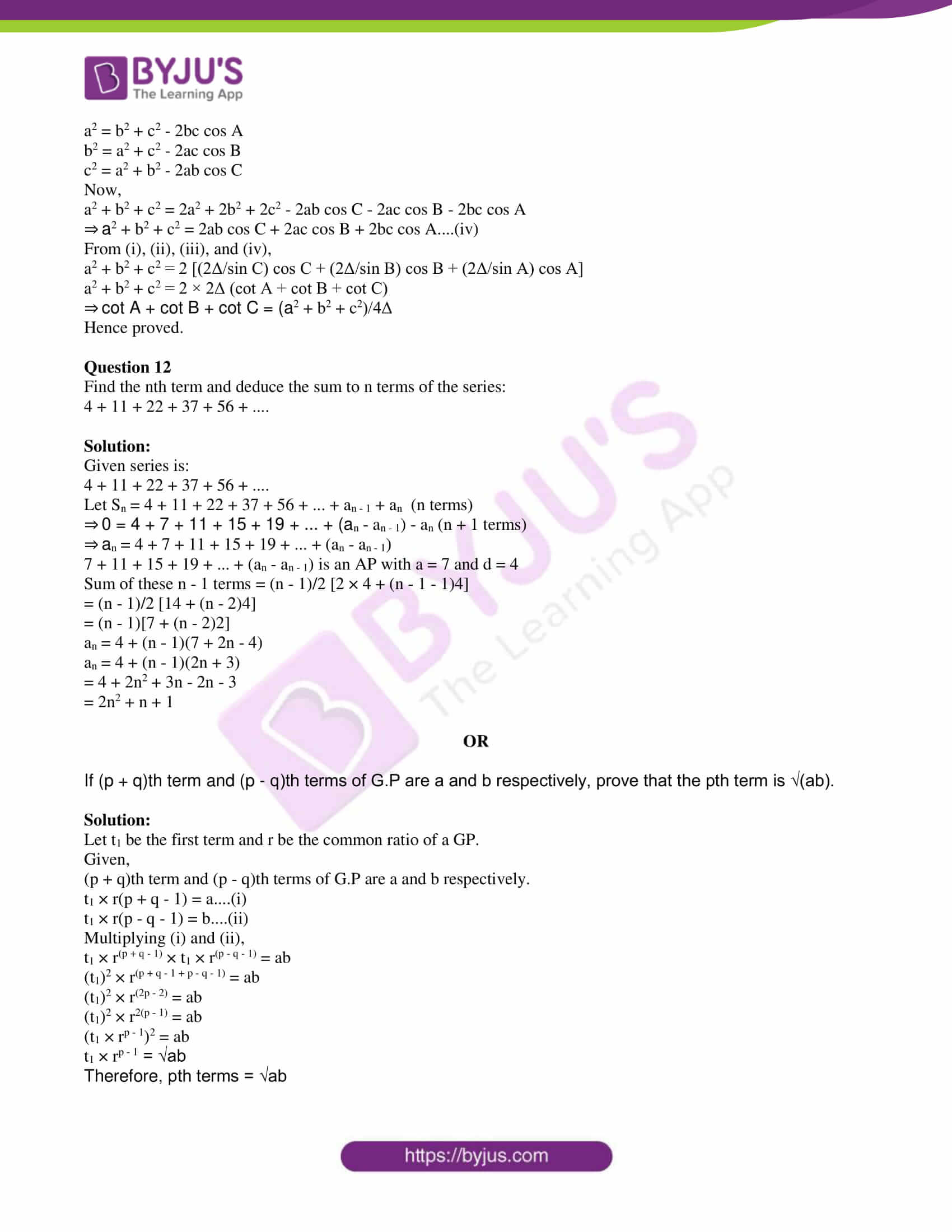 isc class 11 maths specimen question paper with solutions 2018 16