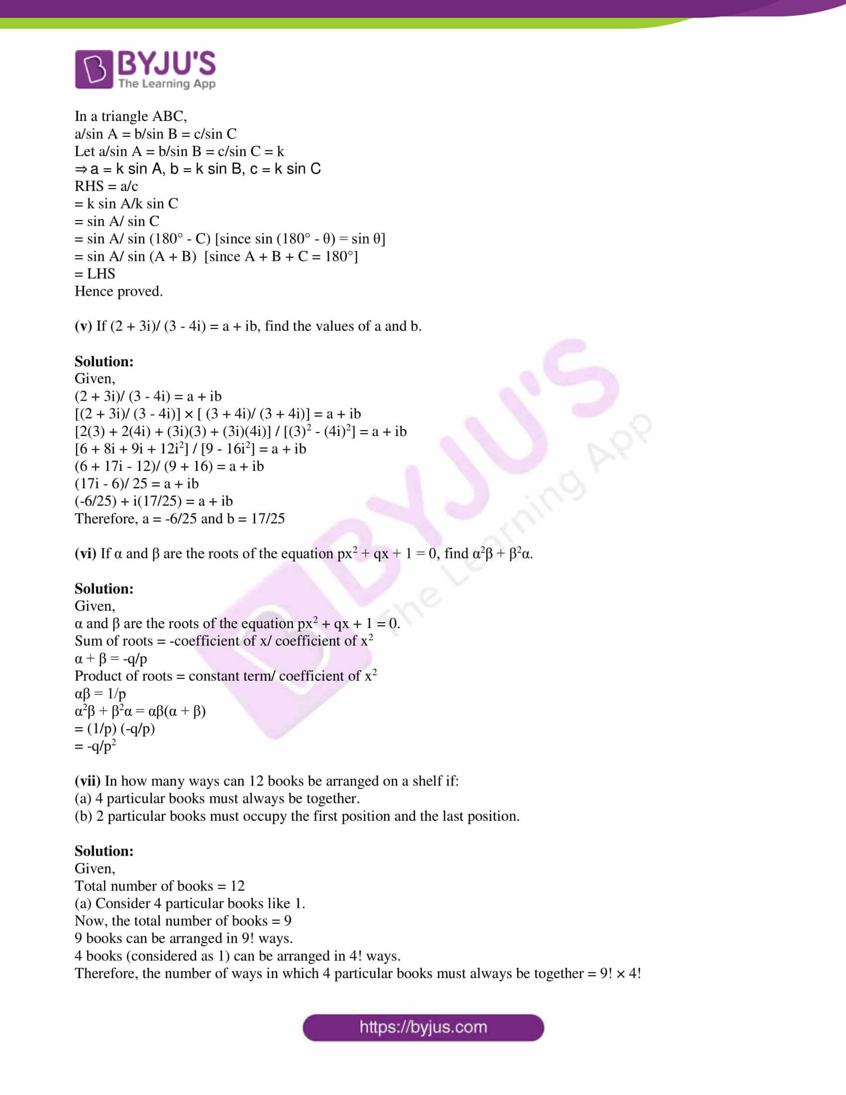 isc class 11 maths specimen question paper with solutions 2019 02