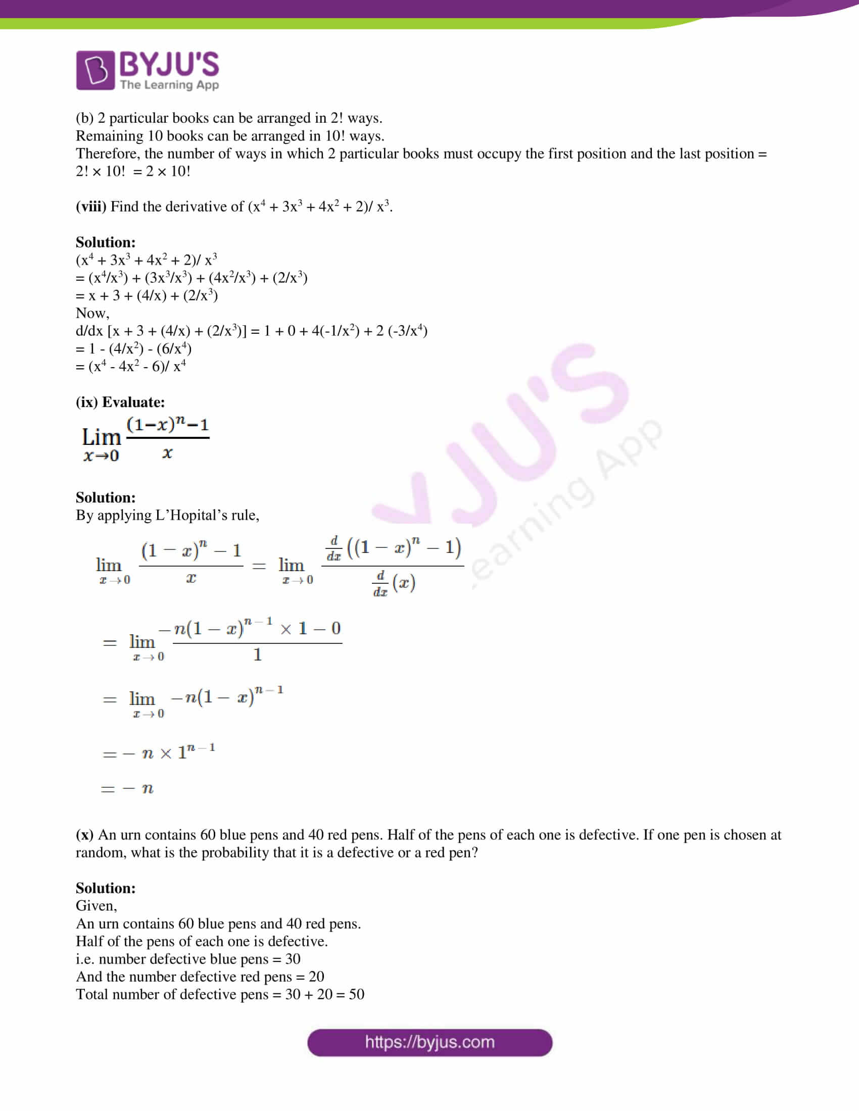 isc class 11 maths specimen question paper with solutions 2019 03