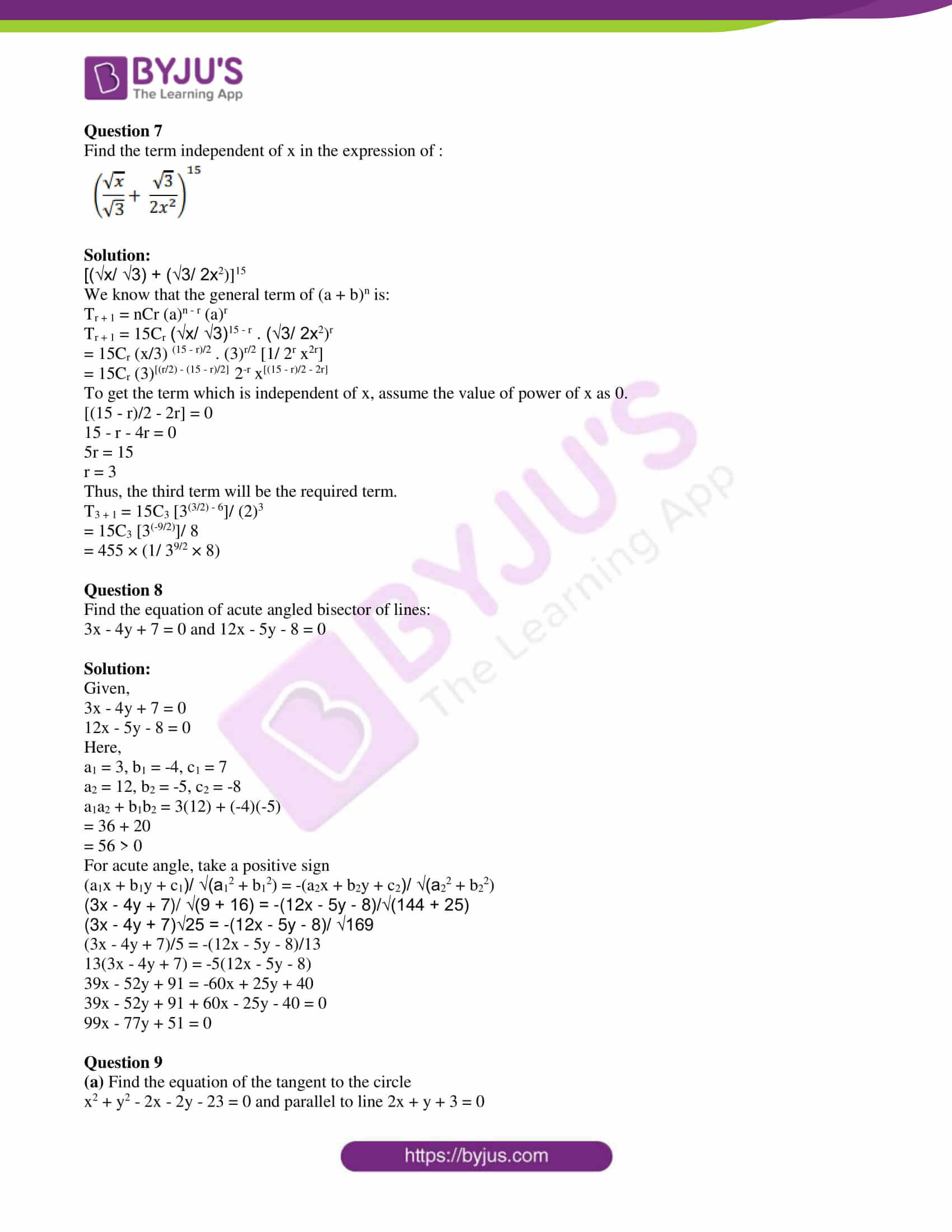 isc class 11 maths specimen question paper with solutions 2019 10