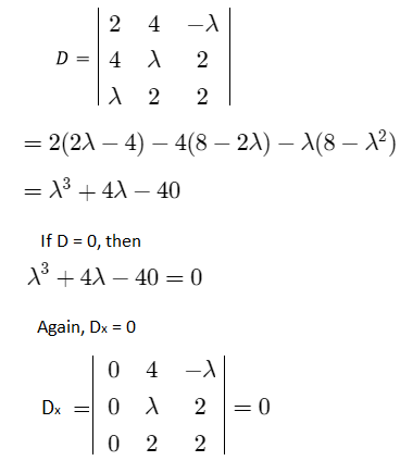JEE Solved Problems on System of Linear Equation