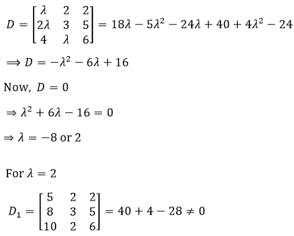 JEE System of Linear Equations Solved Problems