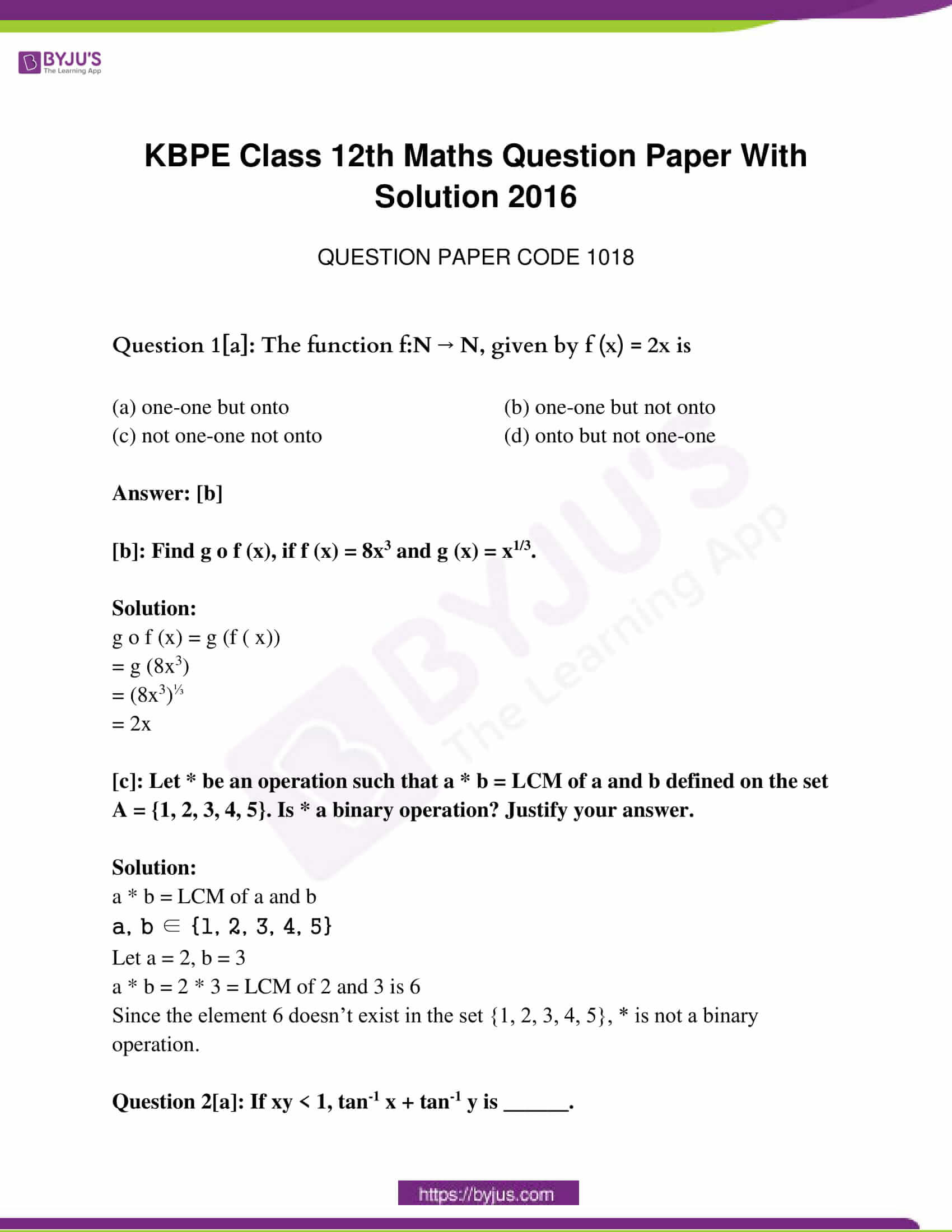 kerala class 12 examination question paper solutions march 2016 01