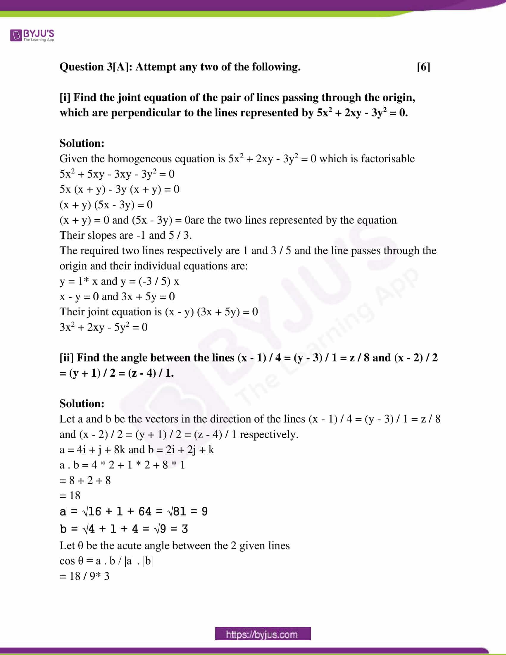 maharashtra class 12 exam question paper solutions march 2018 11