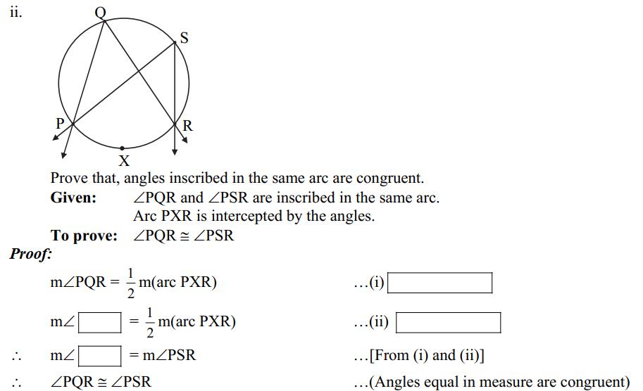 MSBSHSE 2019 paper II question 3(A) ii