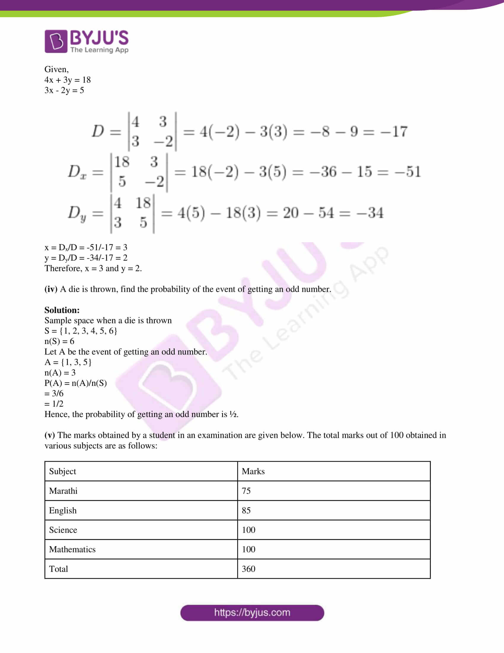 msbshse class 10 algebra mathematics Q and A 2018 05