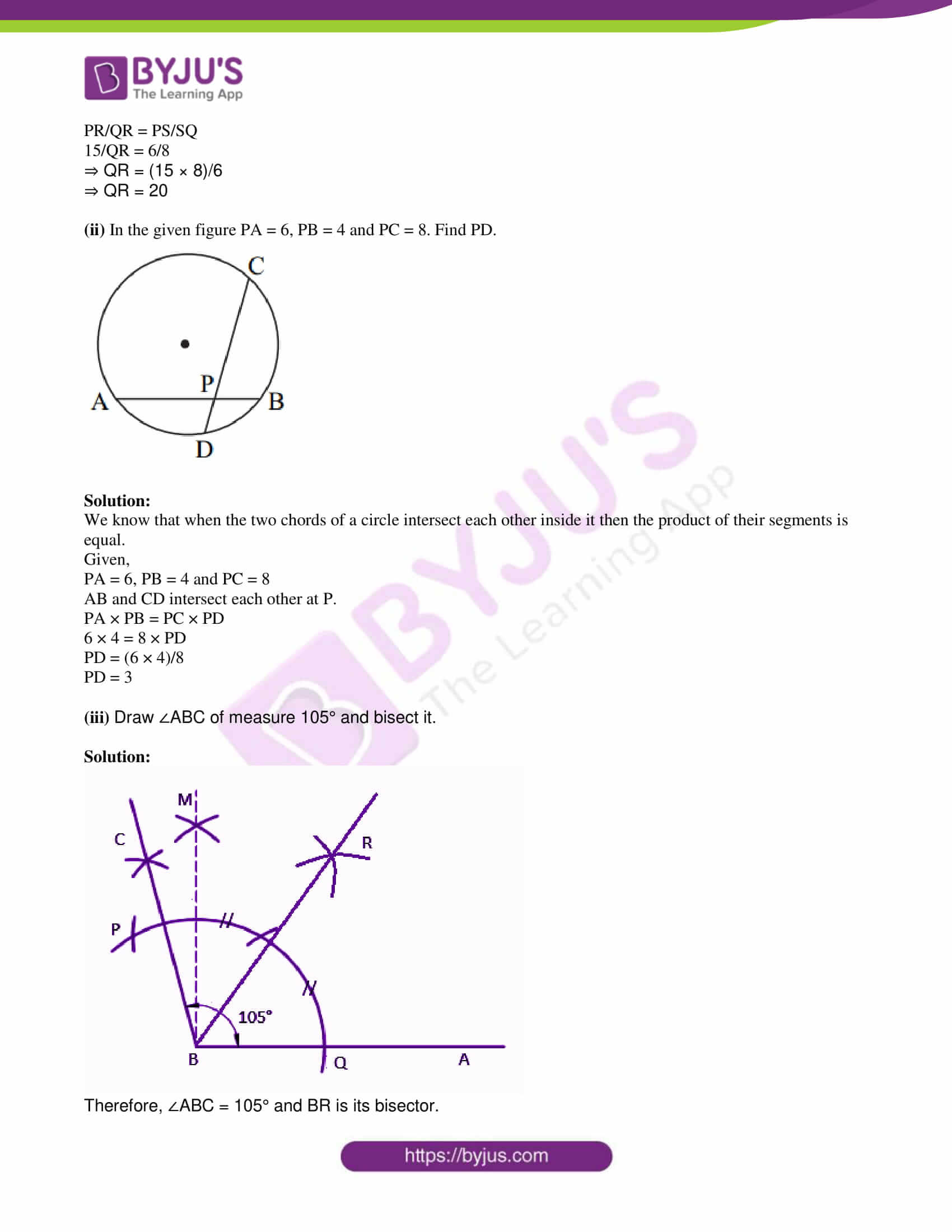 msbshse class 10 geometry mathematics Q and A 2017 03