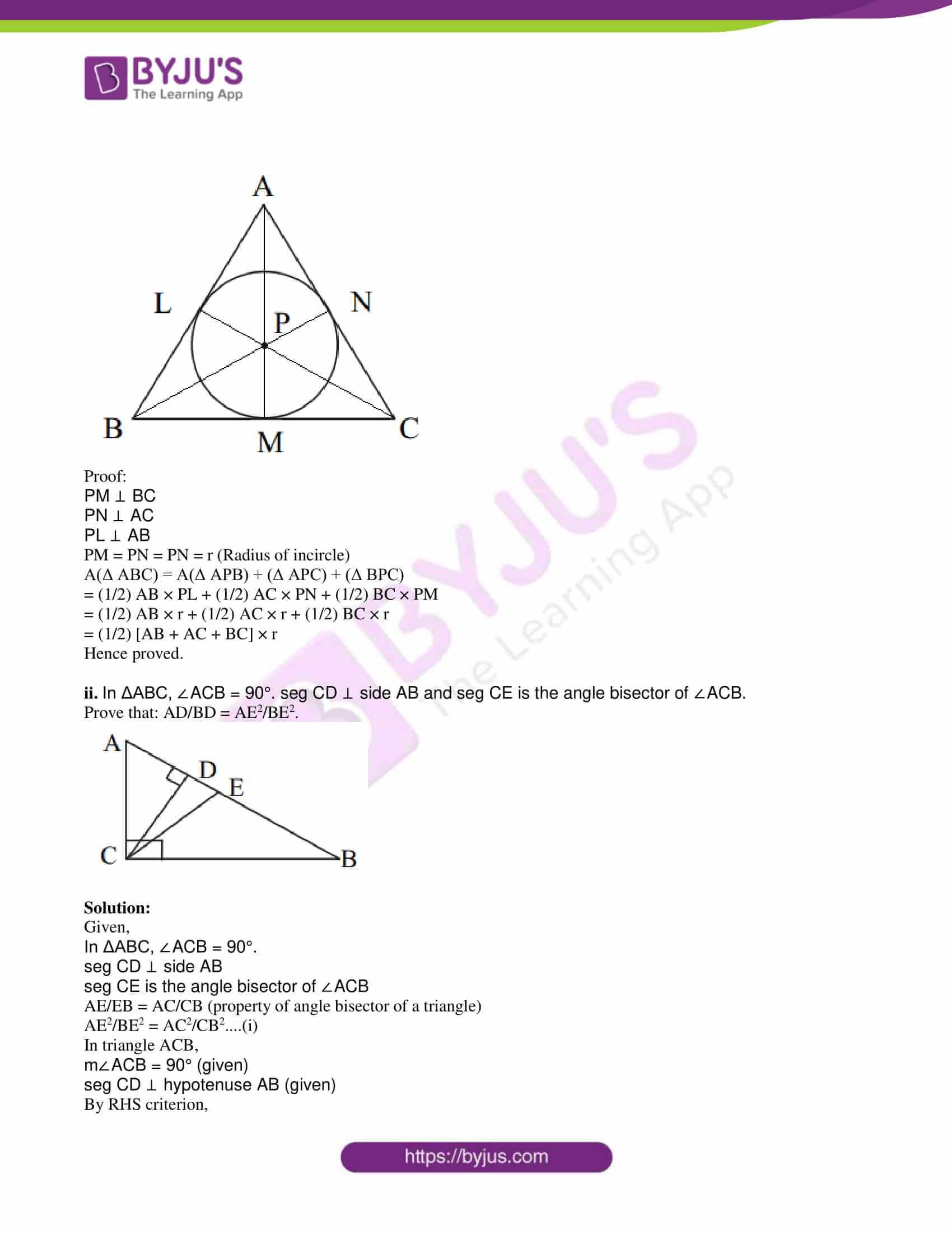 msbshse class 10 geometry mathematics Q and A 2019 13